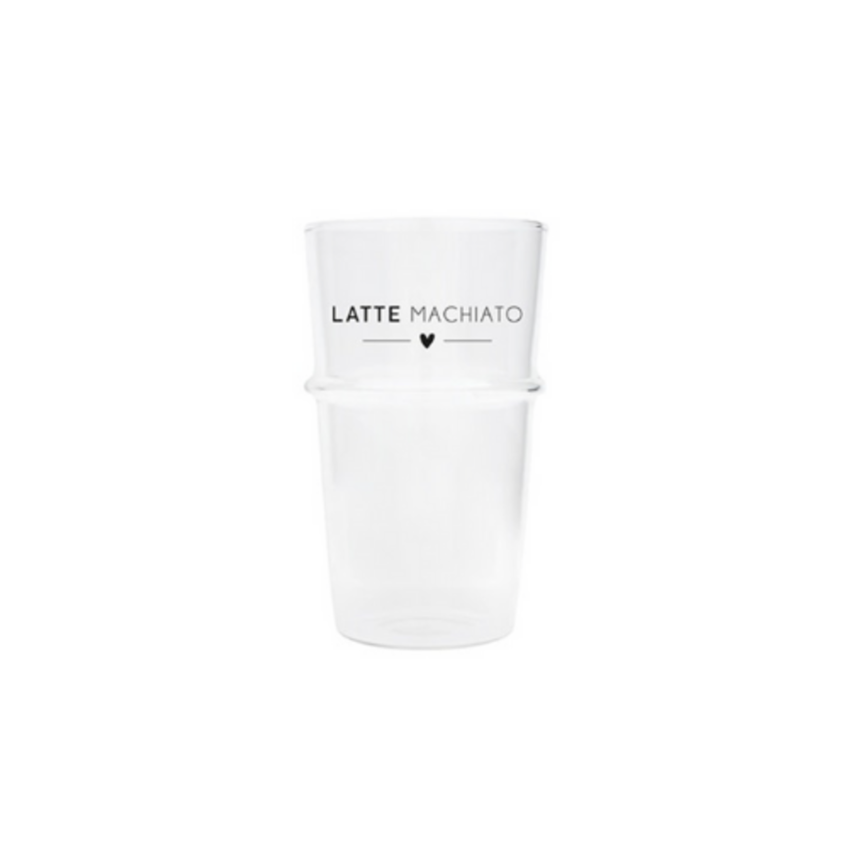 Bastion Collections Latte Glass Heart in Black