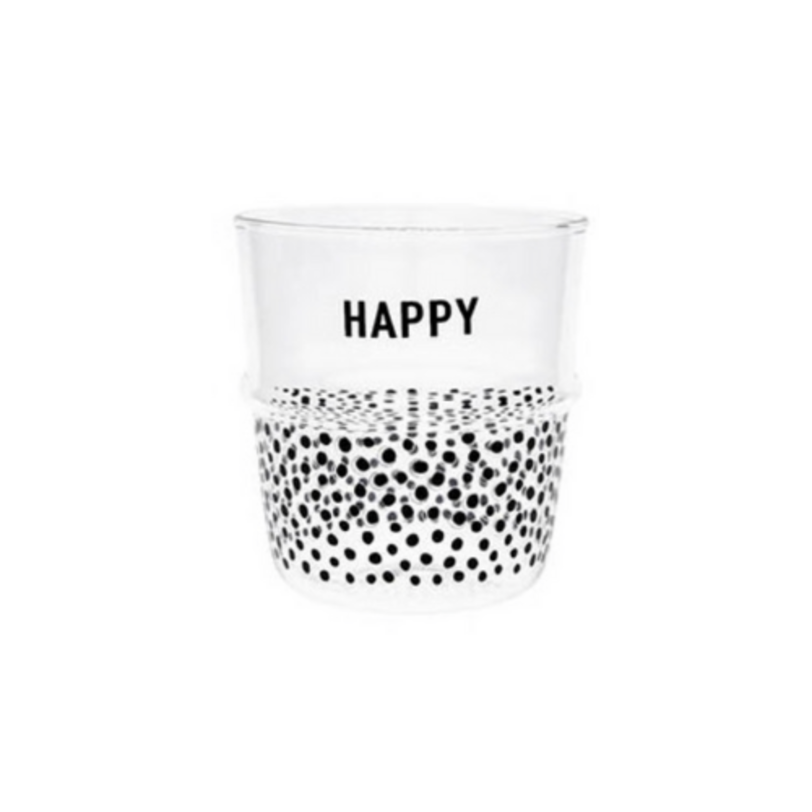 Bastion Collections Water Glass Happy in Black
