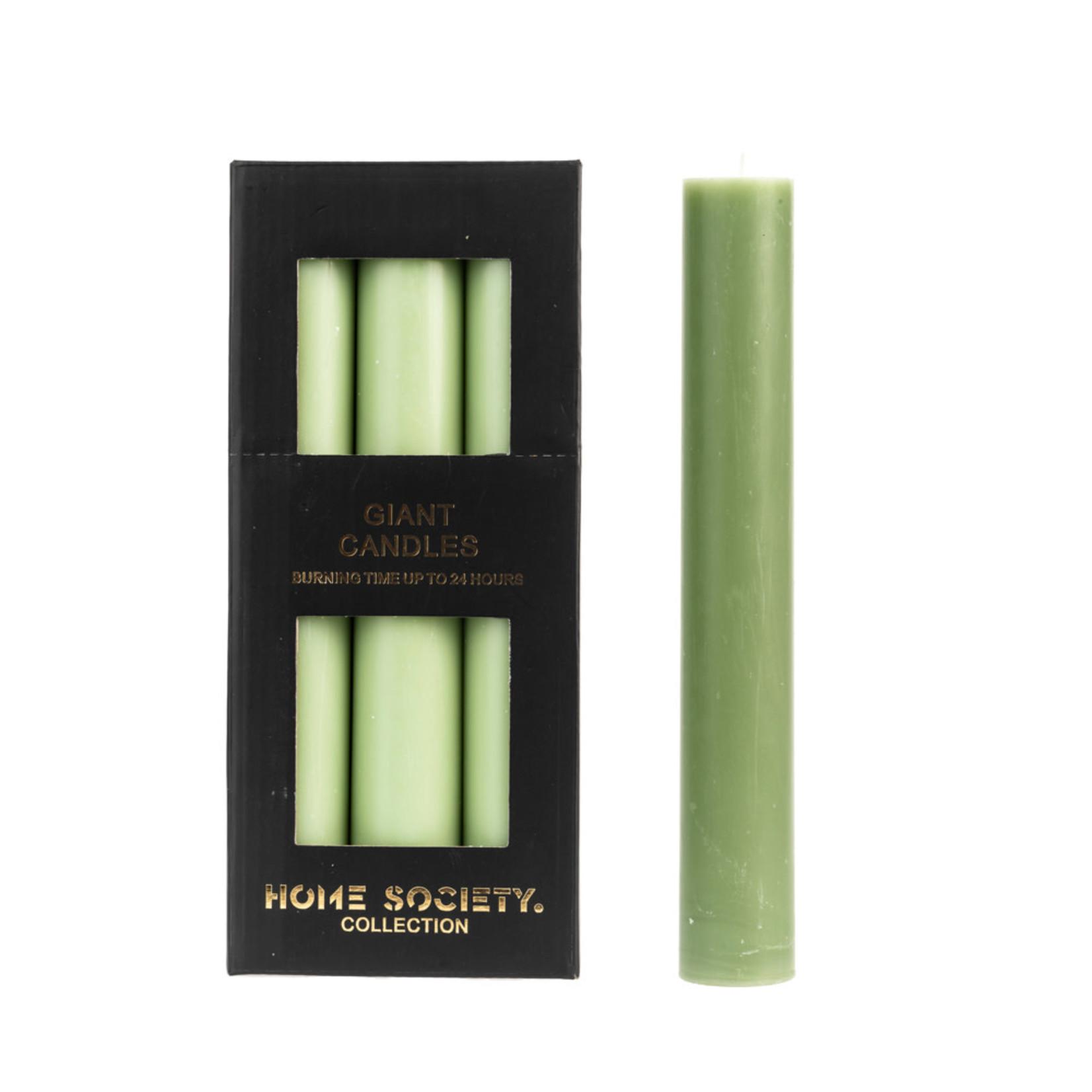 Home Society Dinner Candle XL / Dinerkaars XL Light Green/Licht Groen