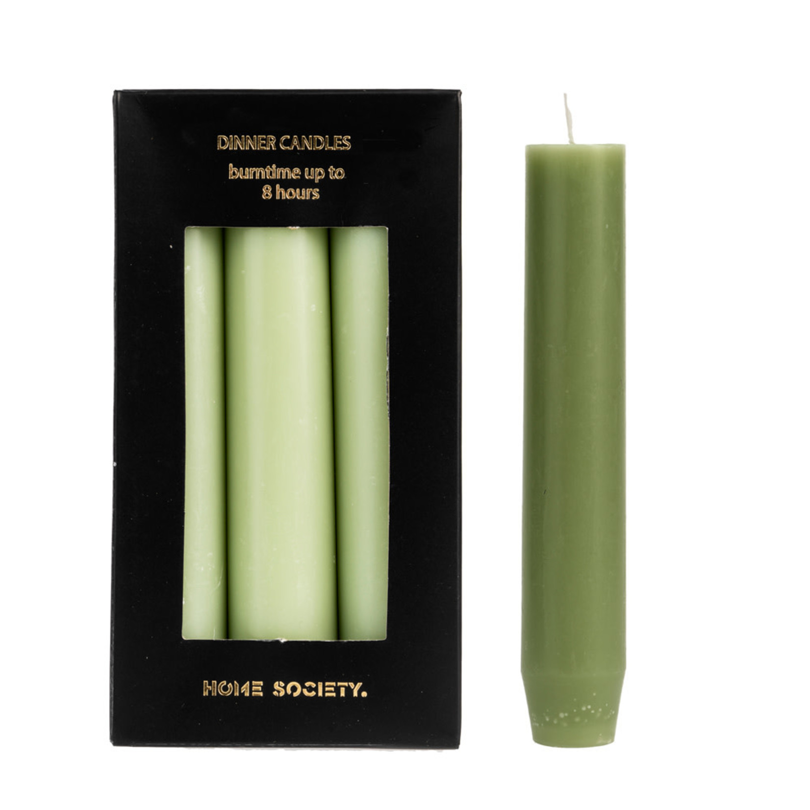 Home Society Dinner Candle S Light Green set 6