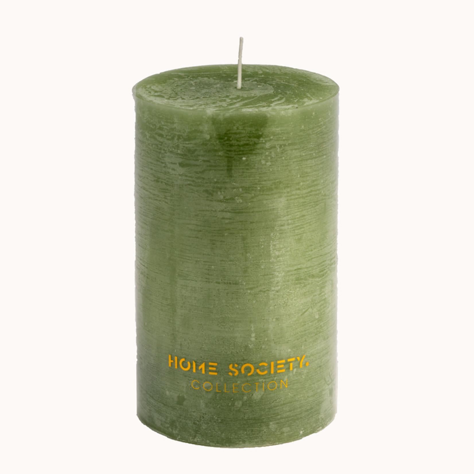 Home Society Pillar Candle 9x15cm LGN