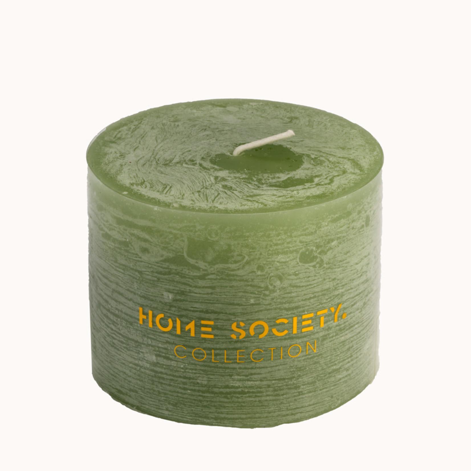 Home Society Pillar Candle 9x7cm LGN