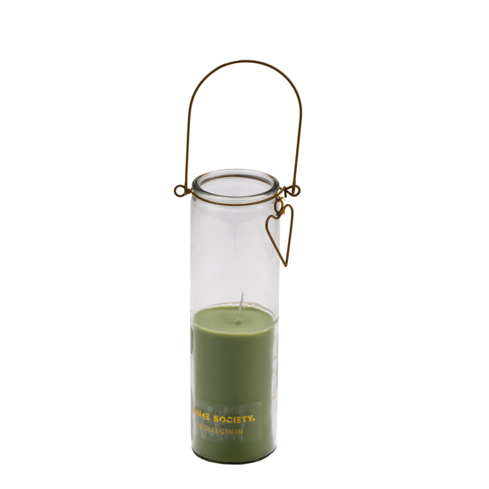 Home Society Candle Tube  / Kaars in glas Frank Green/Groen