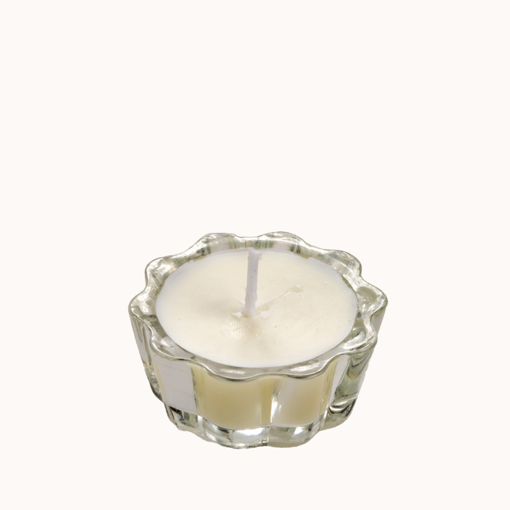Home Society Flower Votive Candle  / Waxinelichtje Bloem White/Wit