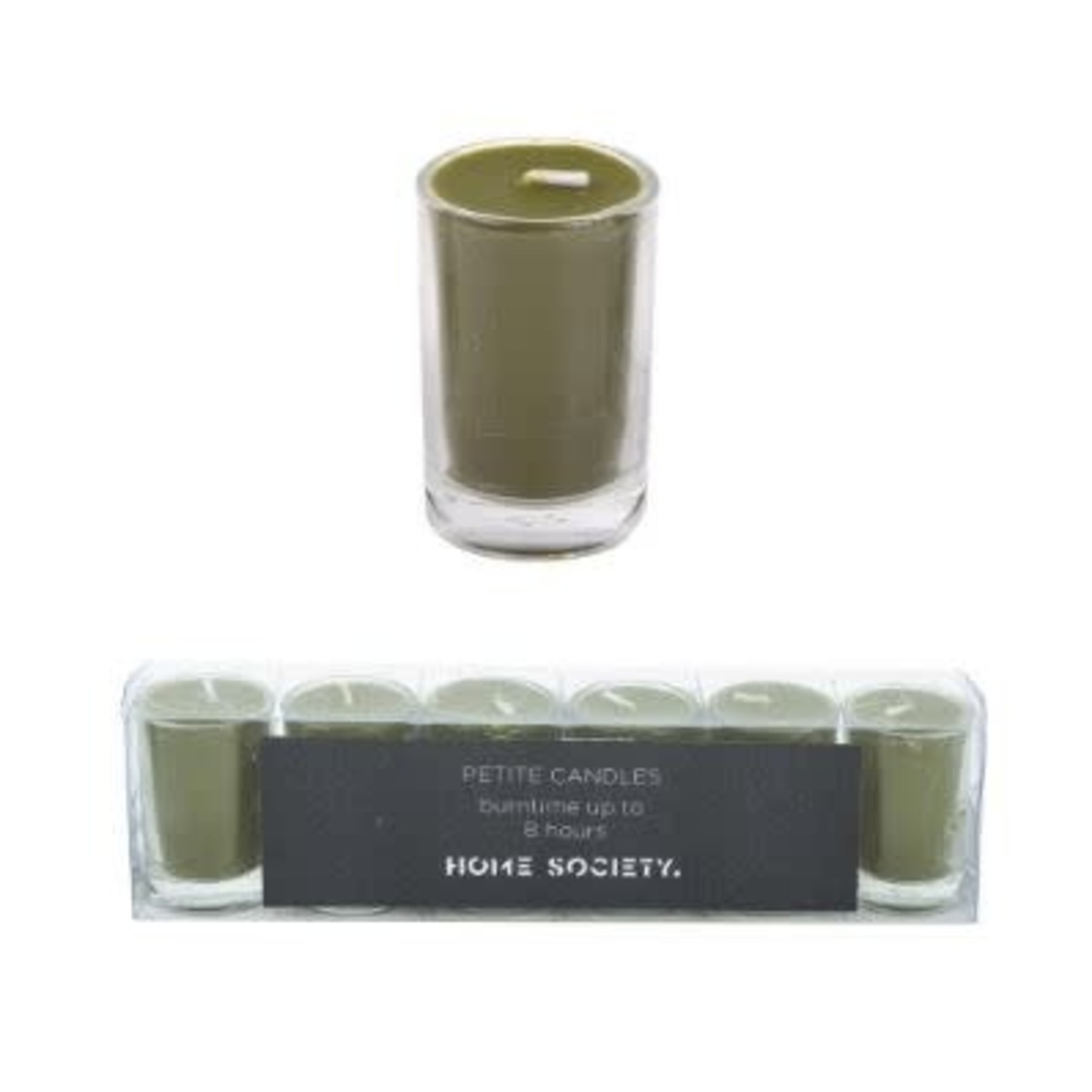 Home Society Votive Candle Green