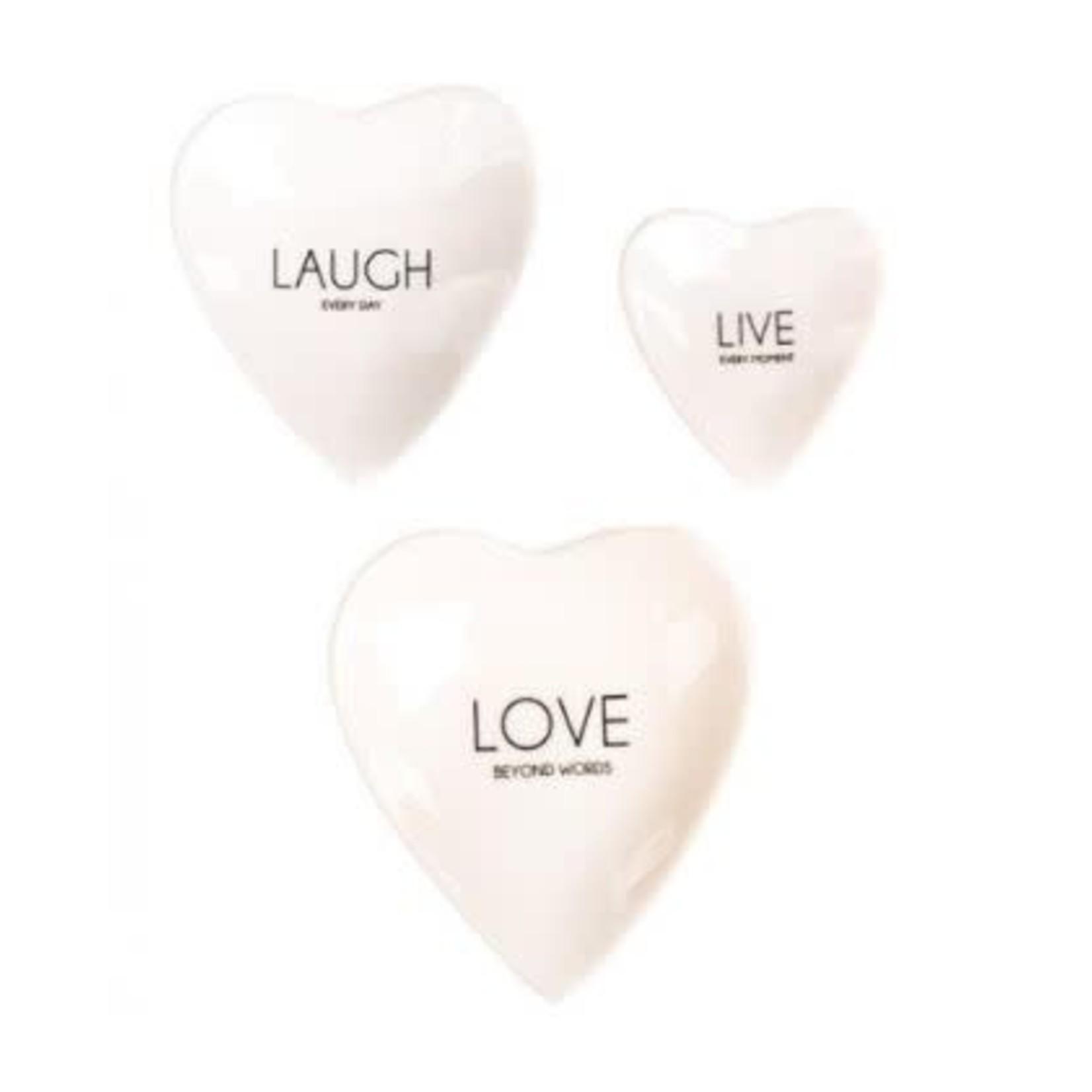 Home Society Dish Heart L Love