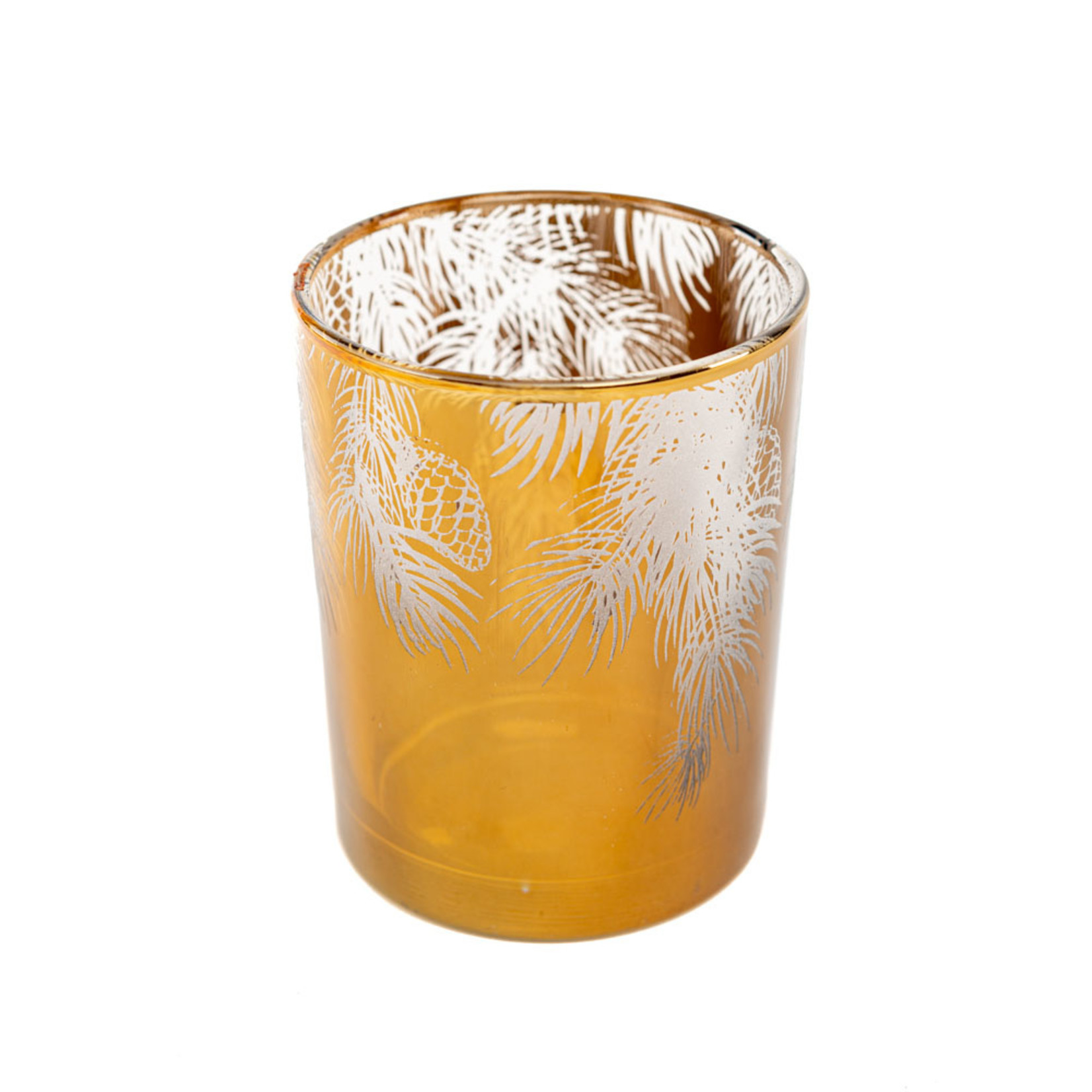 Home Society Hurricane / Windlicht Oldham bruin/goud