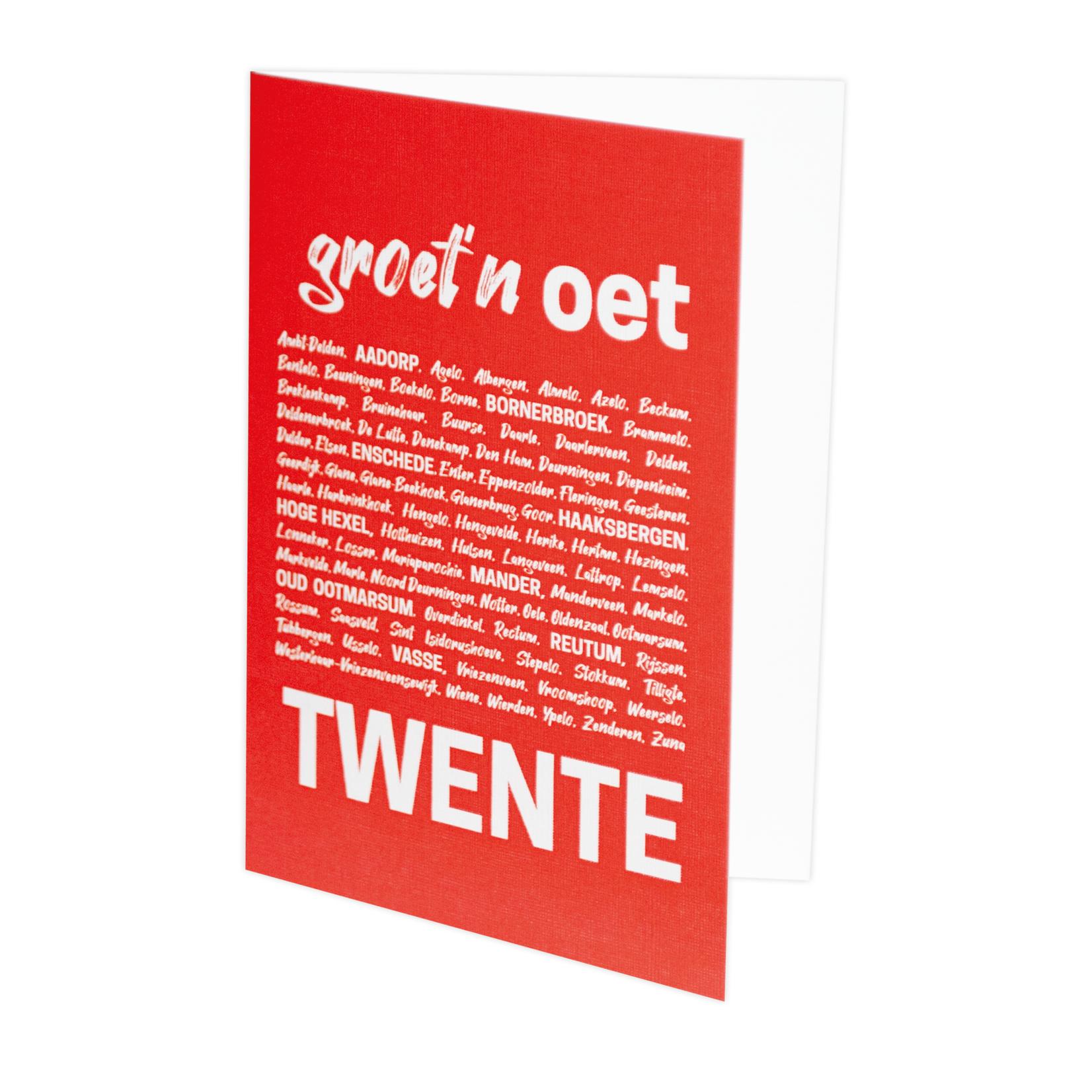 Krulz Kaart Groet'n oet Twente