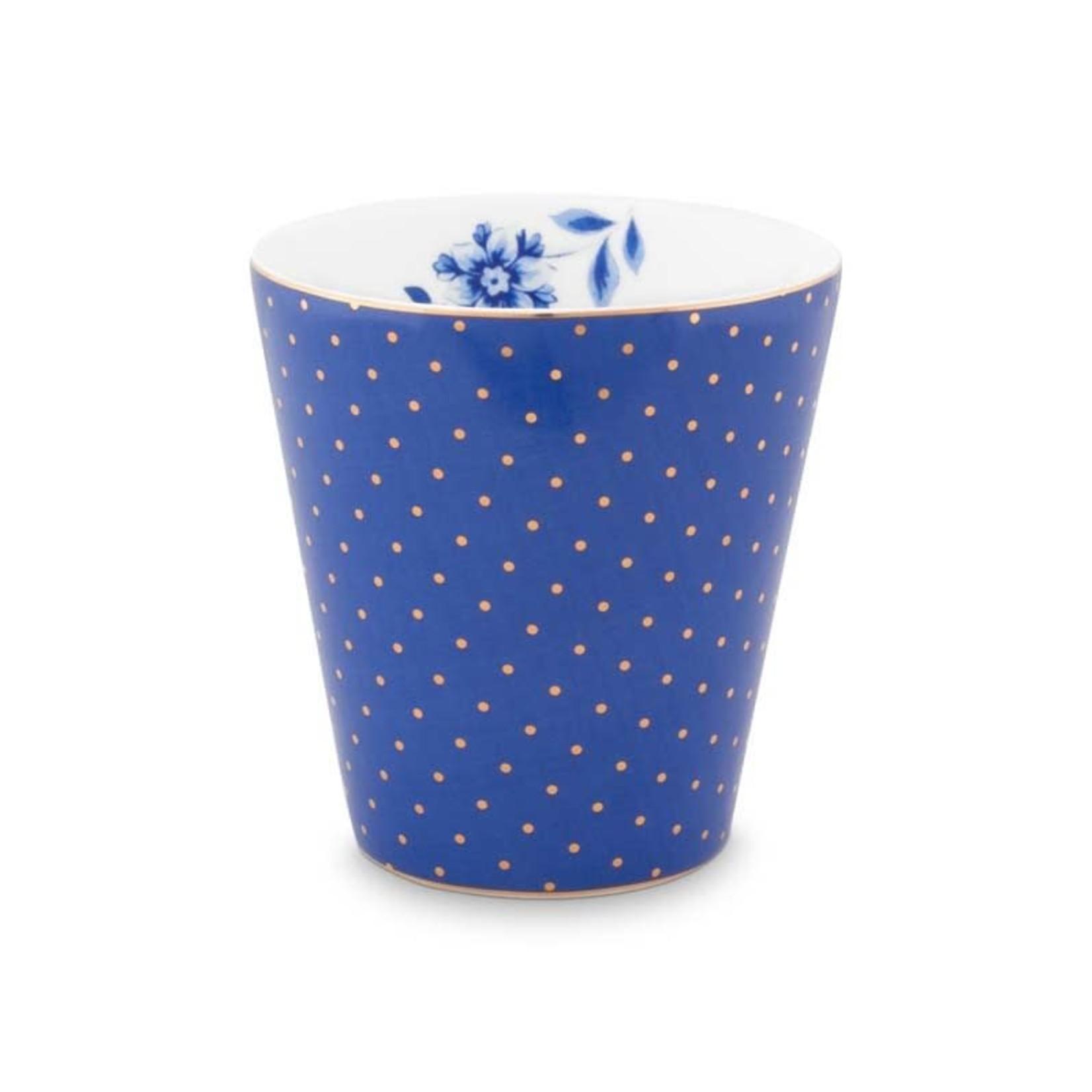 Pip Studio Royal Mug Small without Ear Royal Dots Blue 230ml
