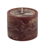 Home Society Pillar Candle 9x7cm Brown