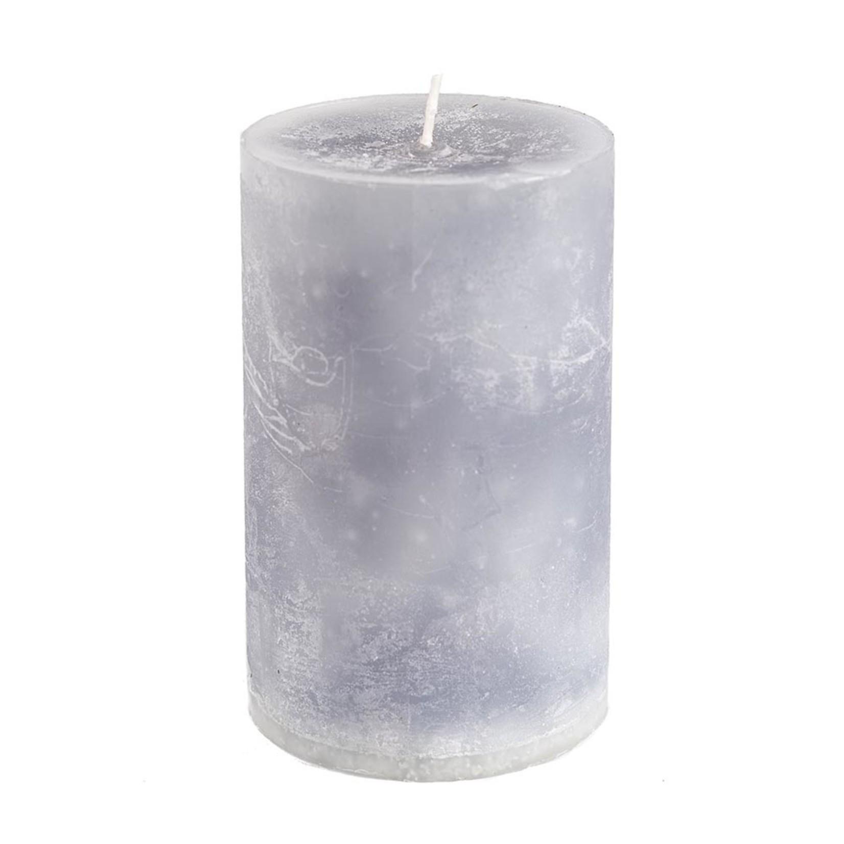 Home Society Pillar Candle 9x15cm Grey