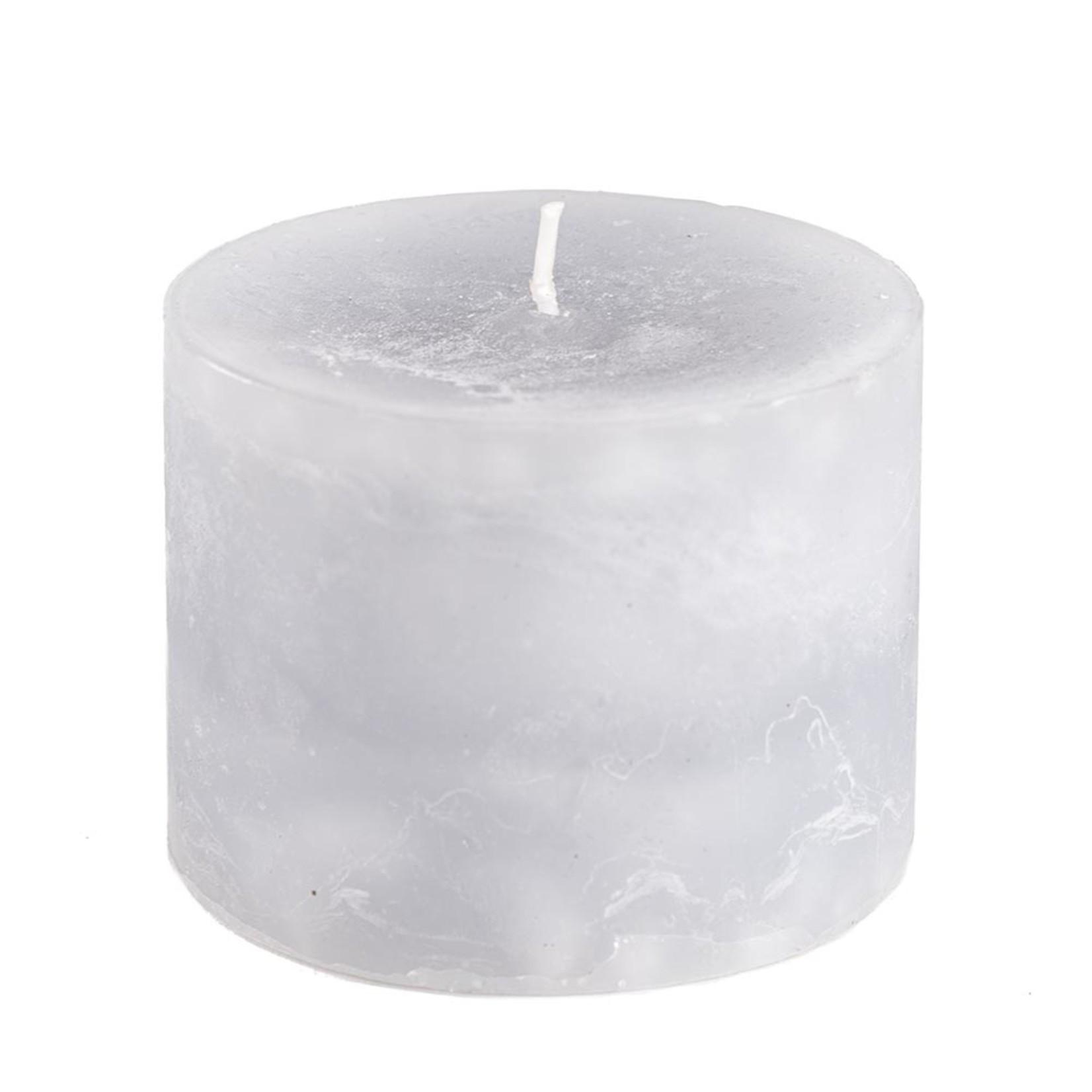 Home Society Pillar Candle 9x7cm Grey