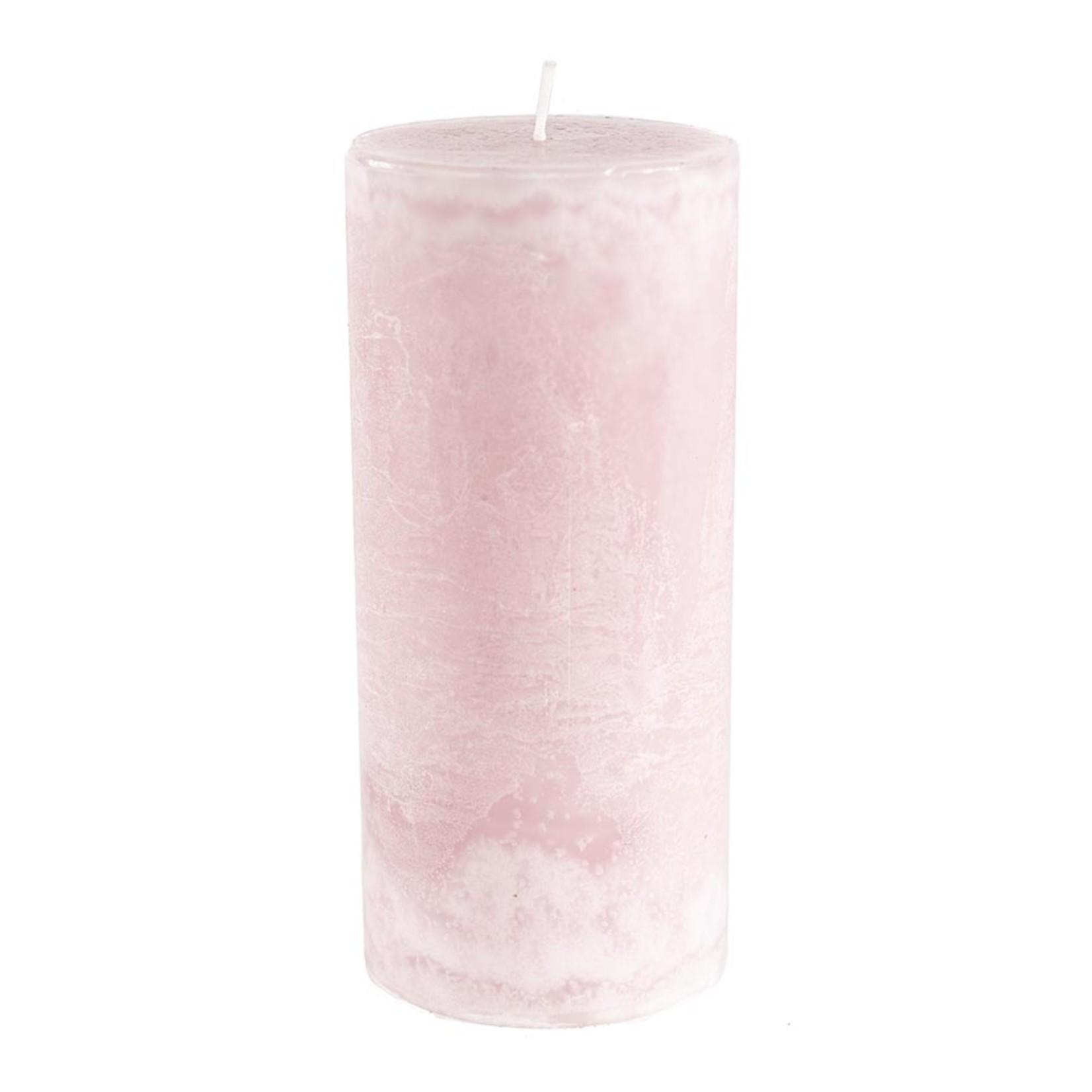 Home Society Pillar Candle 9x20cm LPink