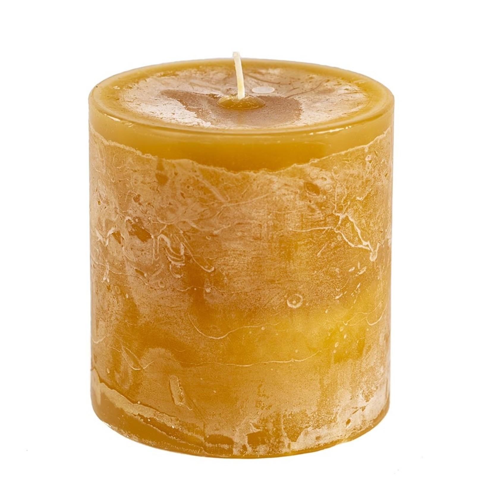 Home Society PIllar Candle 9x10cm Yellow