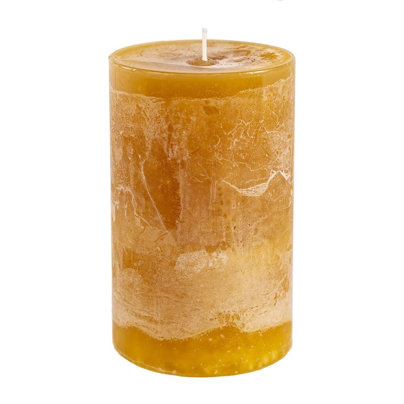 Home Society Pillar Candle 9x15cm Yellow