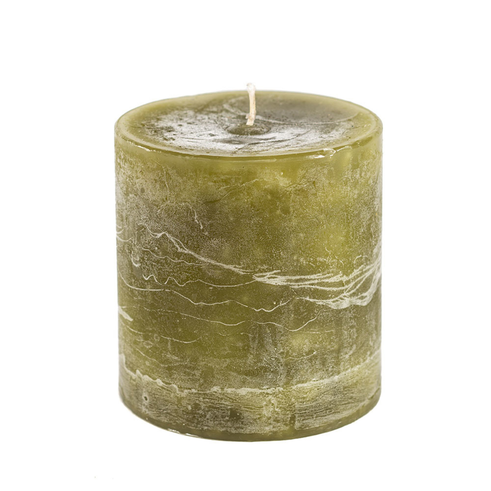 Home Society Pillar Candle 9x10cm Green