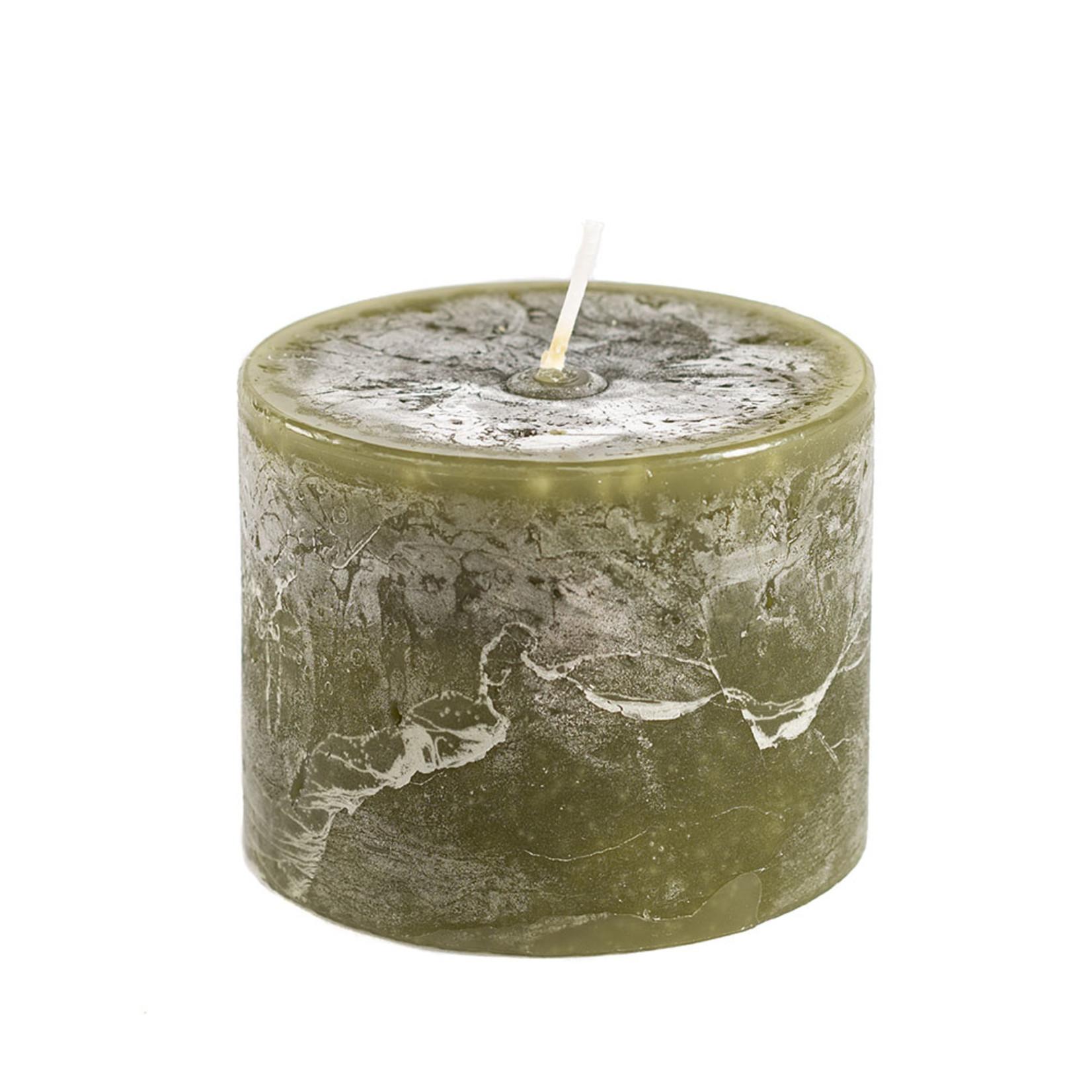 Home Society Pillar Candle 9x7cm Green