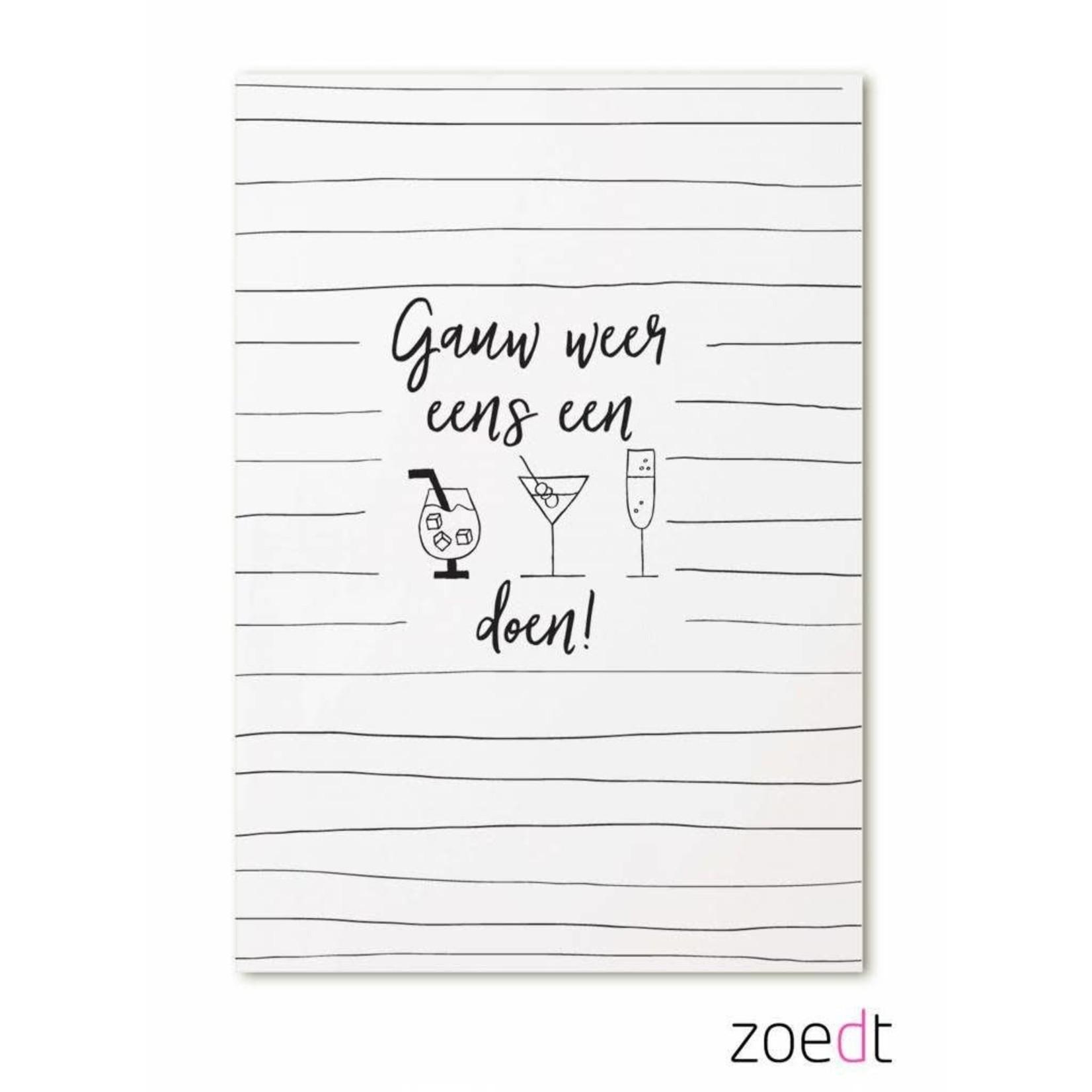 Zoedt Ansichtkaart Gauw weer eens een drankje doen!