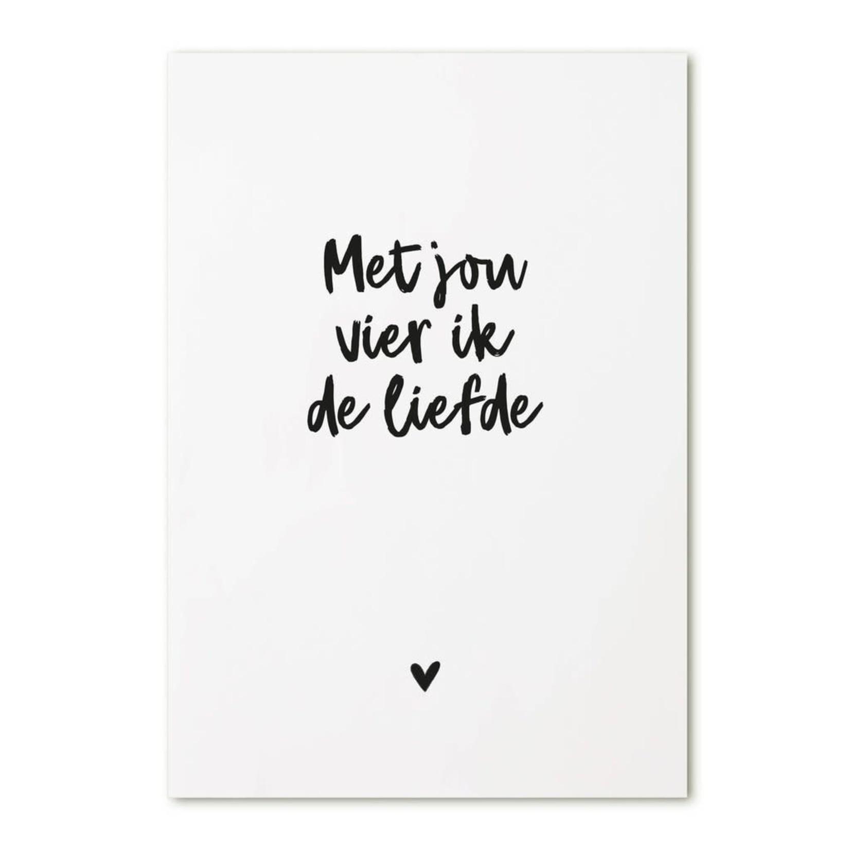 Zoedt Ansichtkaart Met jou vier ik de liefde