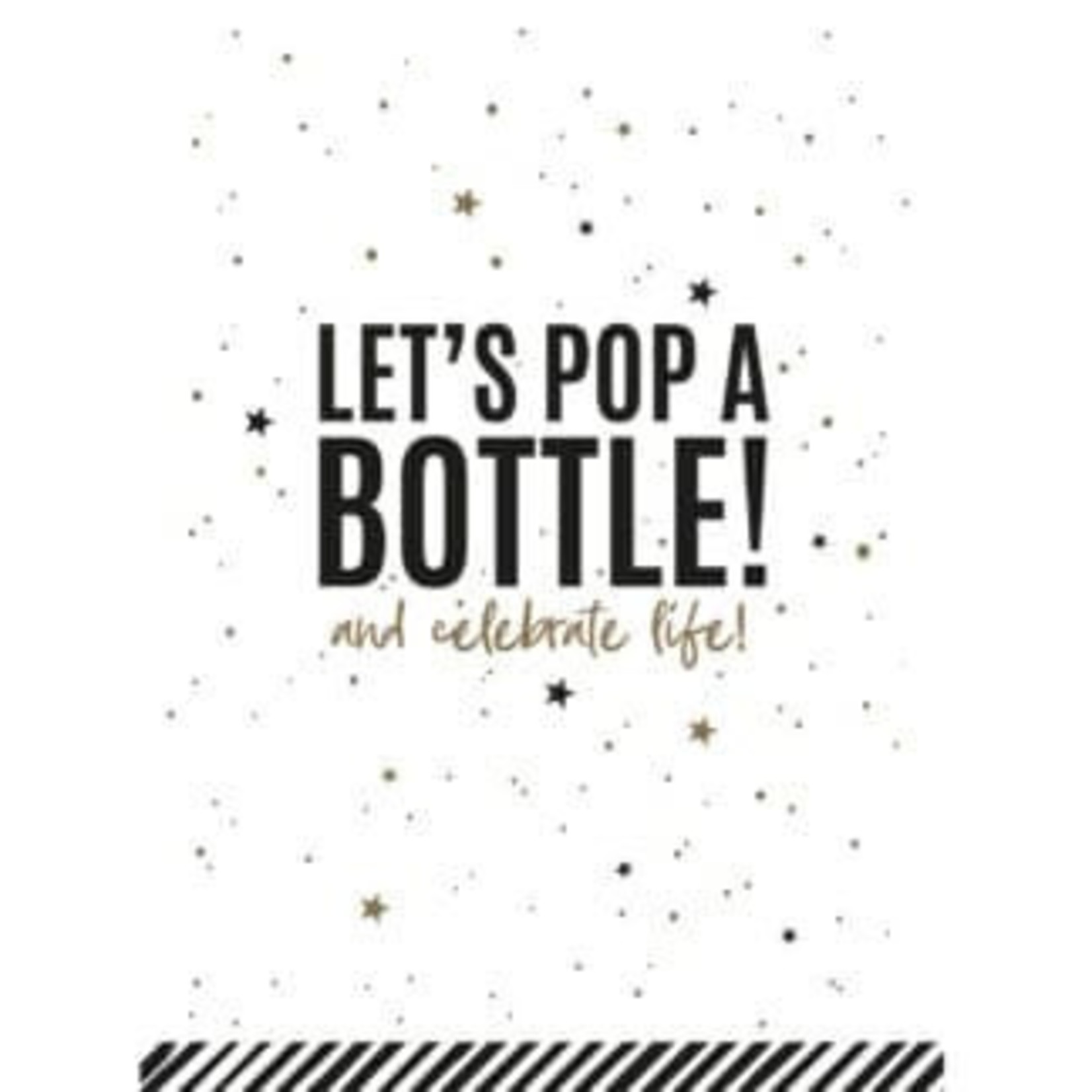 Collectiv Warehouse Ansichtkaart Let's pop a bottle and celebrate life!
