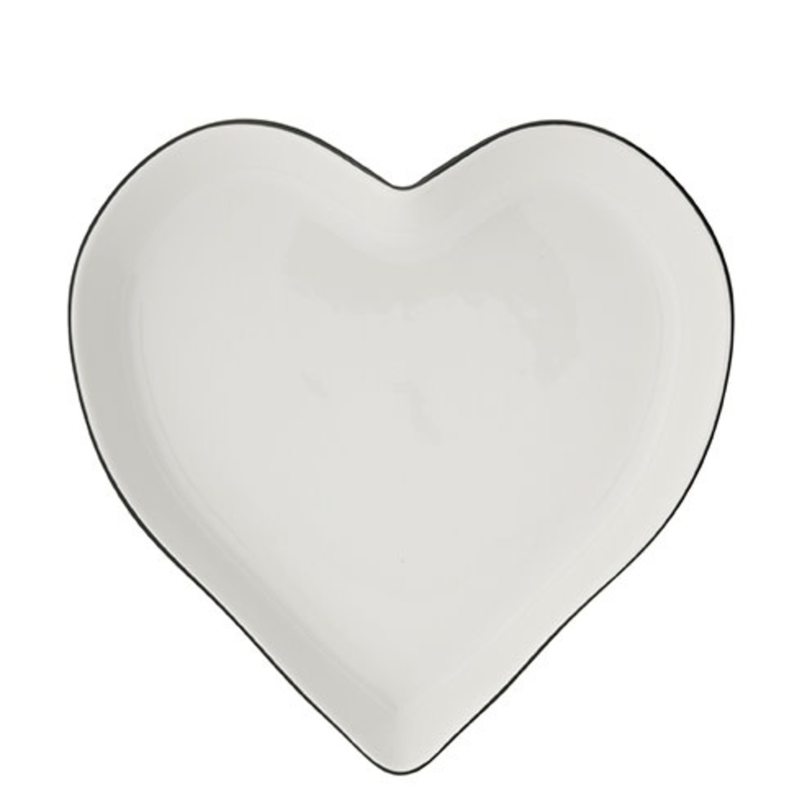 Bastion Collections Oven Dish White small Heart