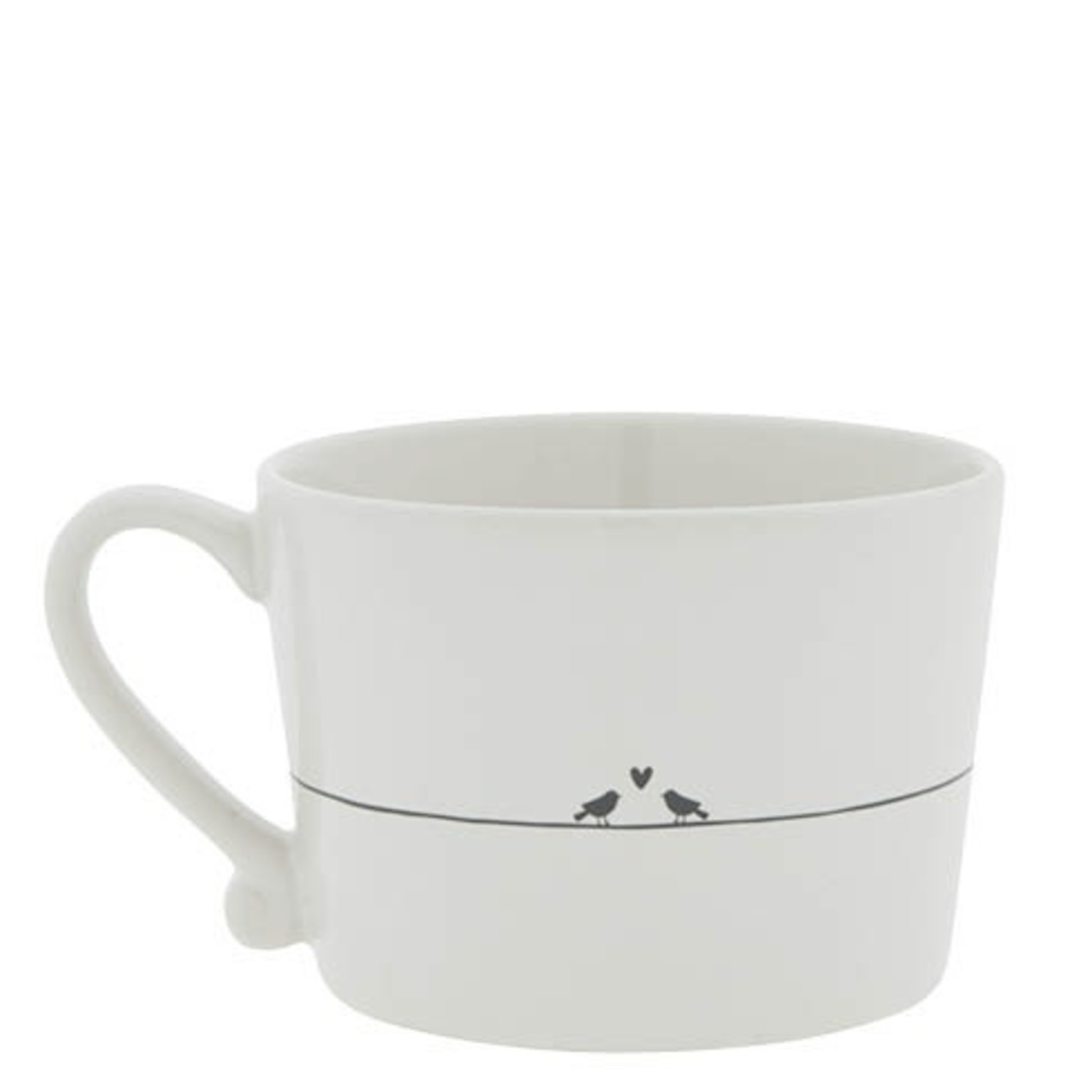 Bastion Collections Cup white Love Bird in black 10x8x7 cm