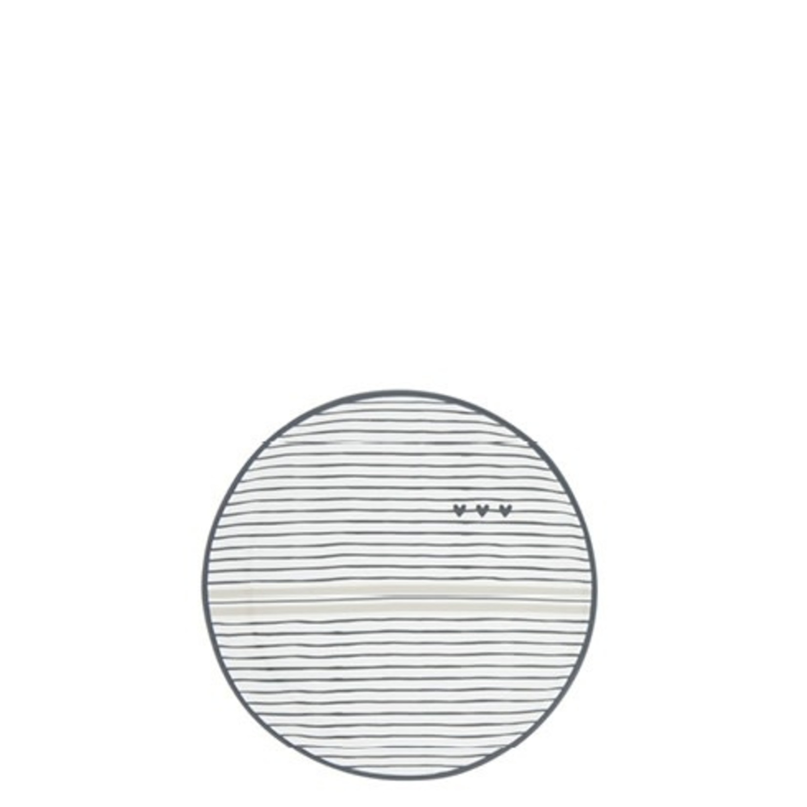 Bastion Collections Tea Tip stripes & hearts white black titane