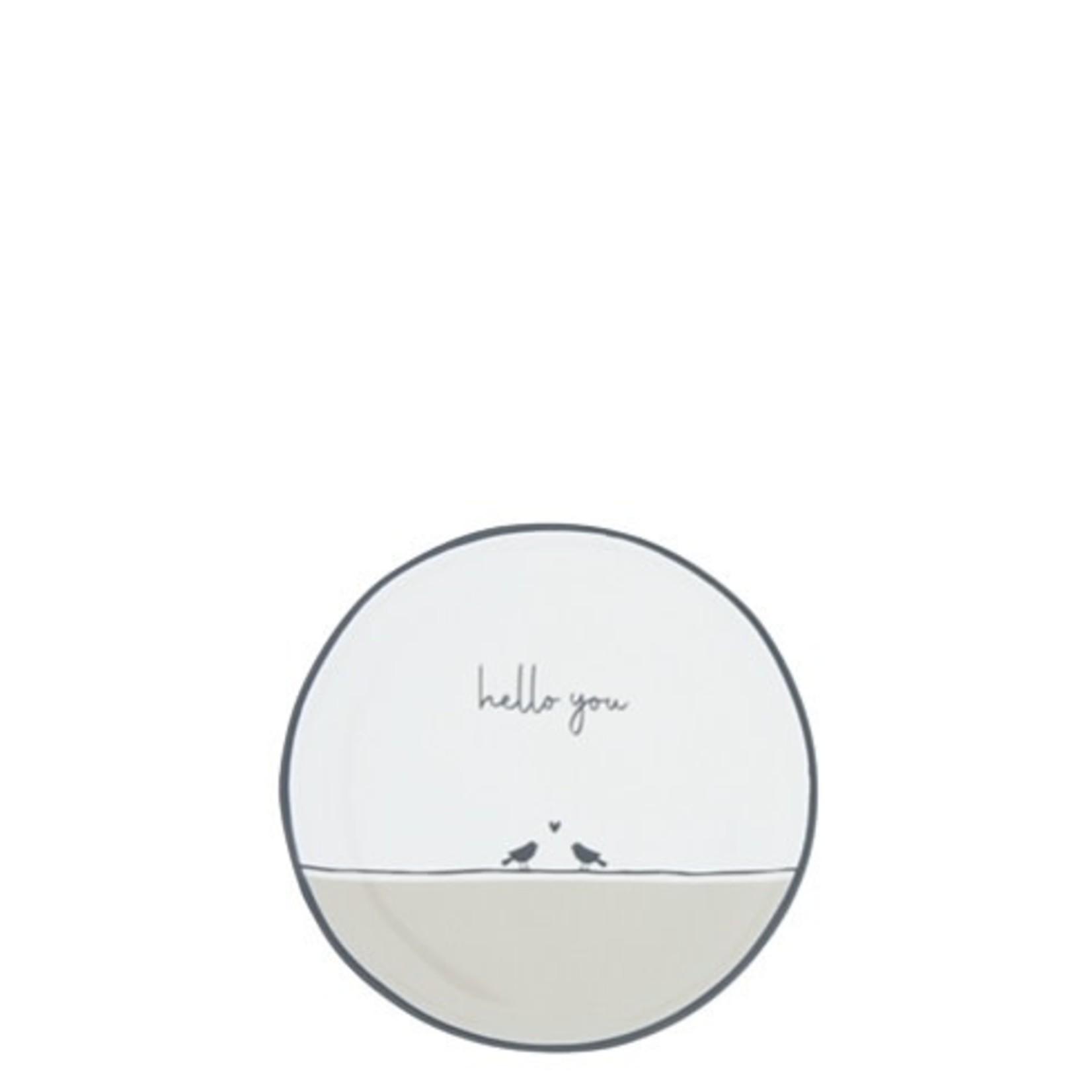 Bastion Collections Tea Tip Hello You / birds white/black/sand