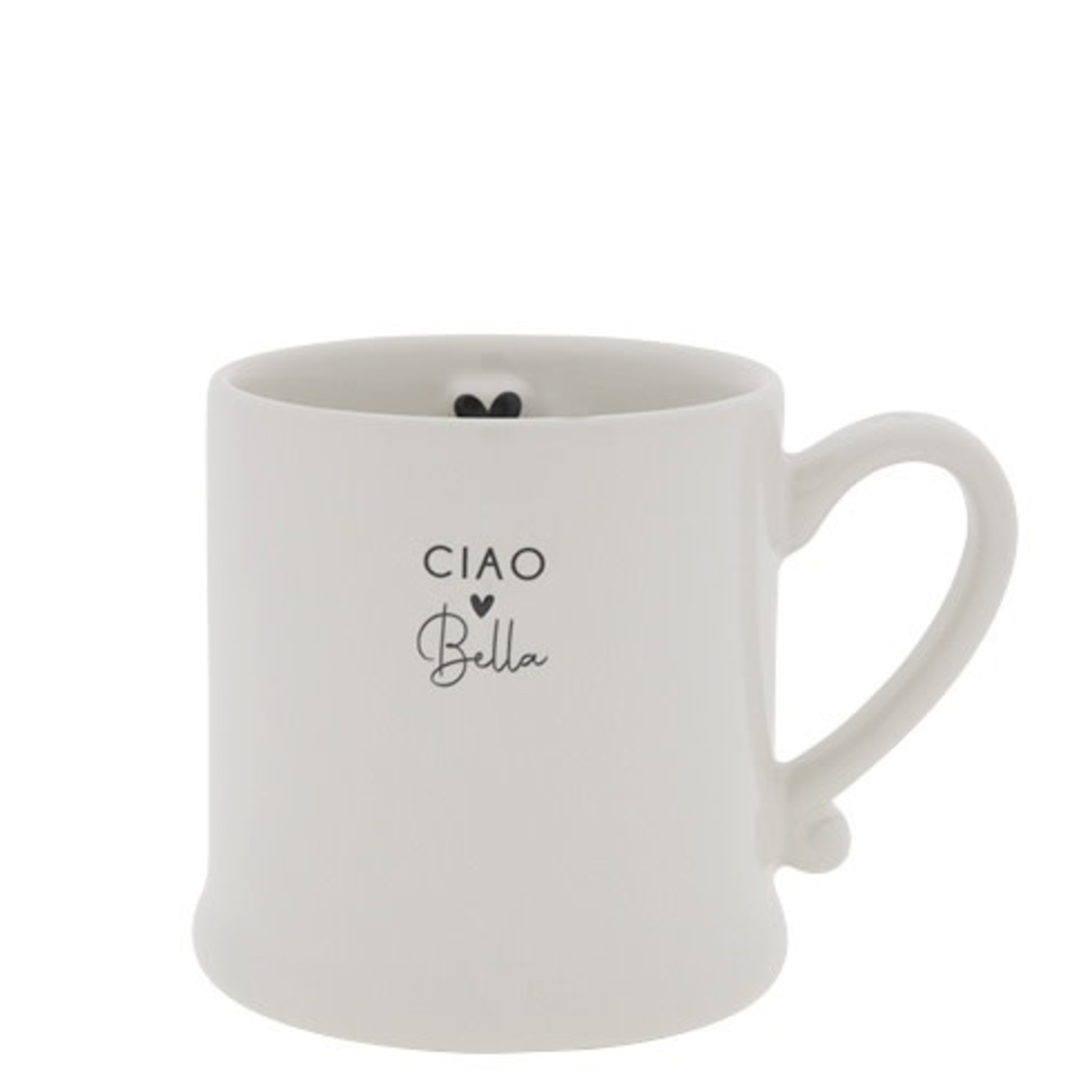 Bastion Collections Mug Ciao Bella white/black 8x7 cm