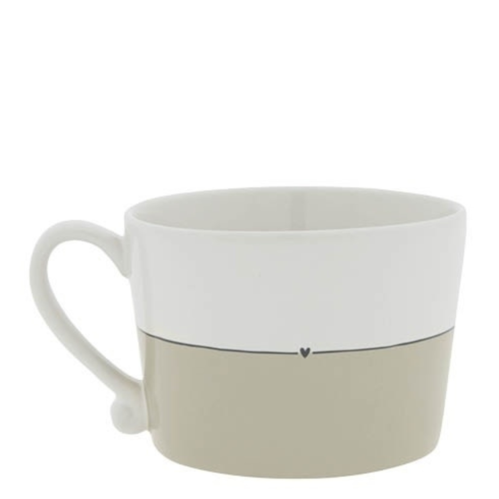Bastion Collections Cup Beautiful Day white/titane/black 10x8x7 cm
