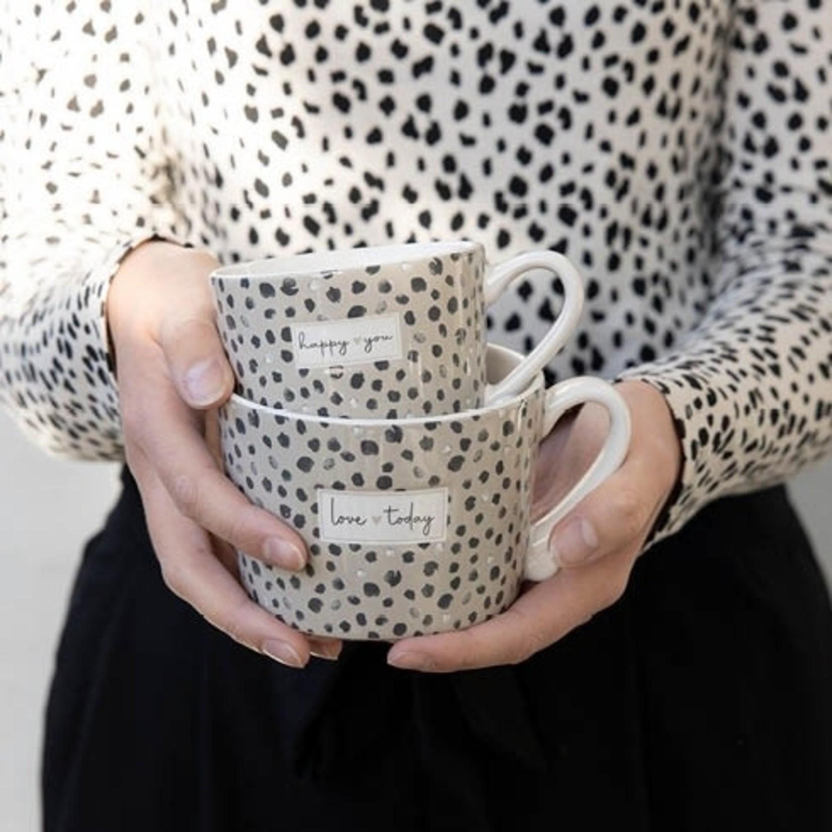 Bastion Collections Cup Confetti Love Today Titane/black 10x8x7 cm