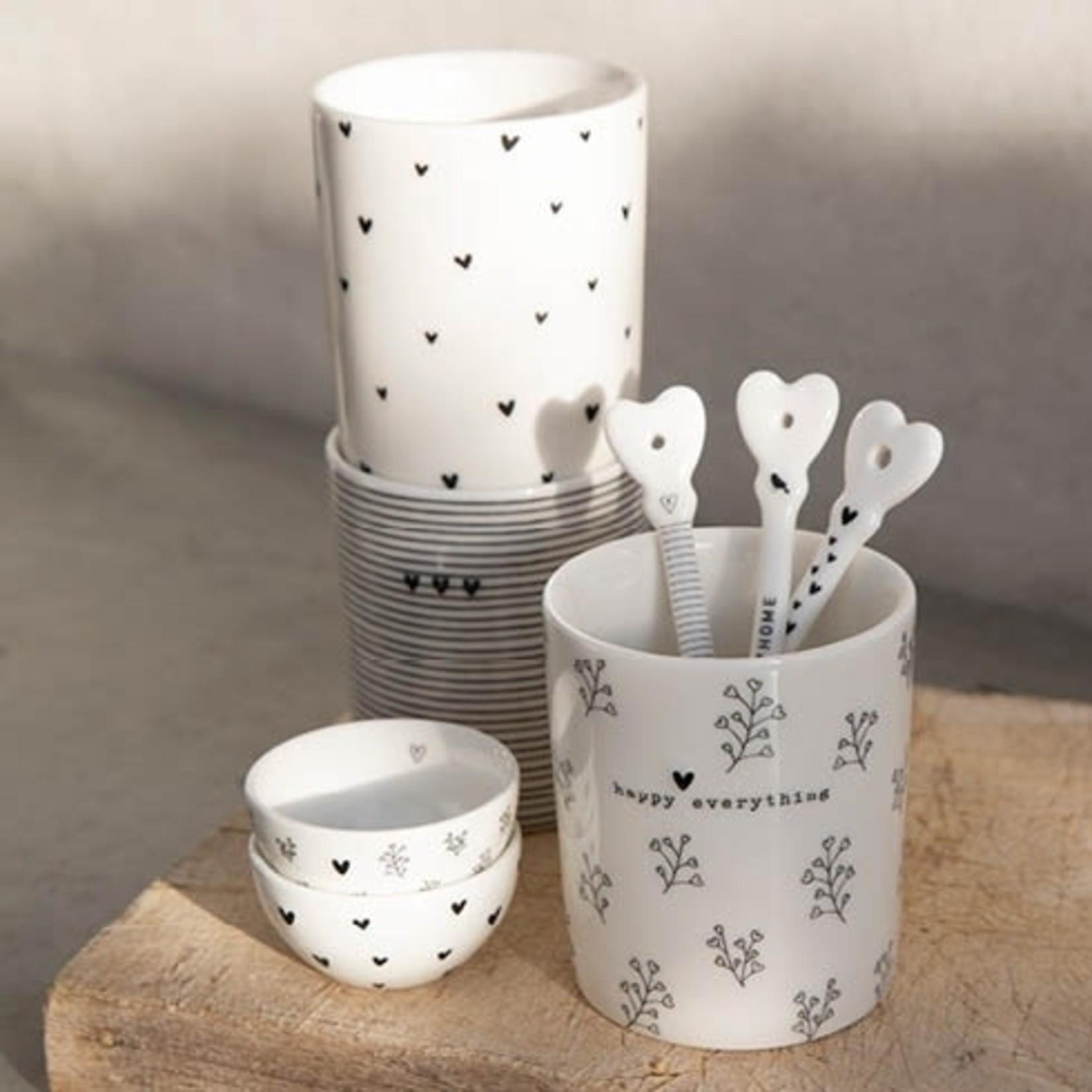 Bastion Collections Spoon Smile everyday white/stripes 14 cm ( 3e van 3 )