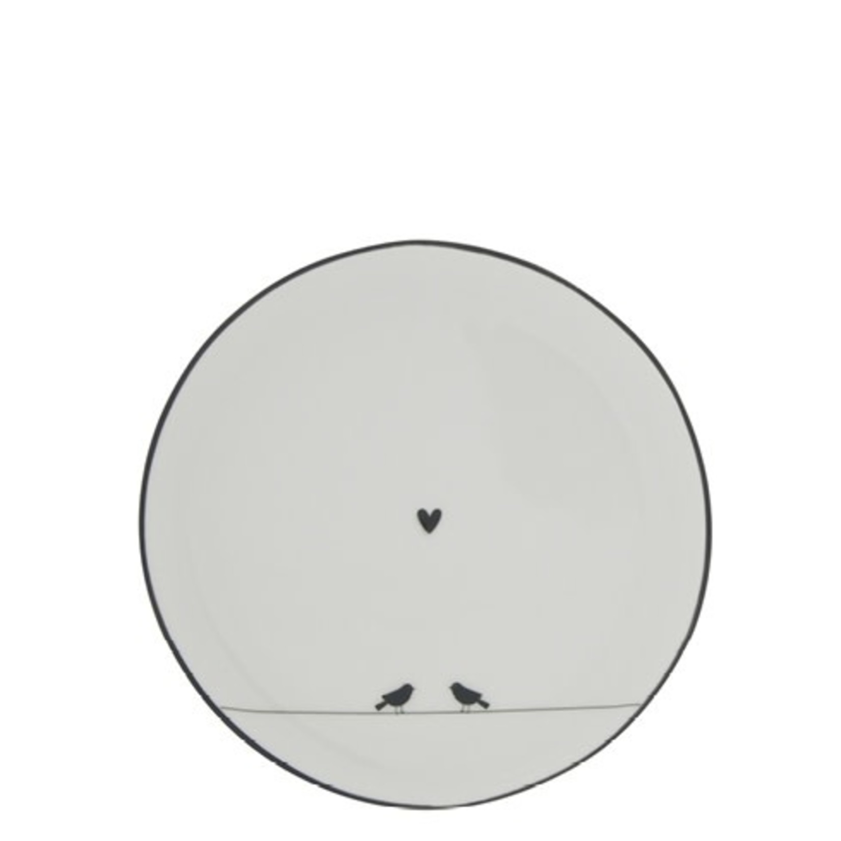 Bastion Collections Cake plate Love Birds white/black 16 cm