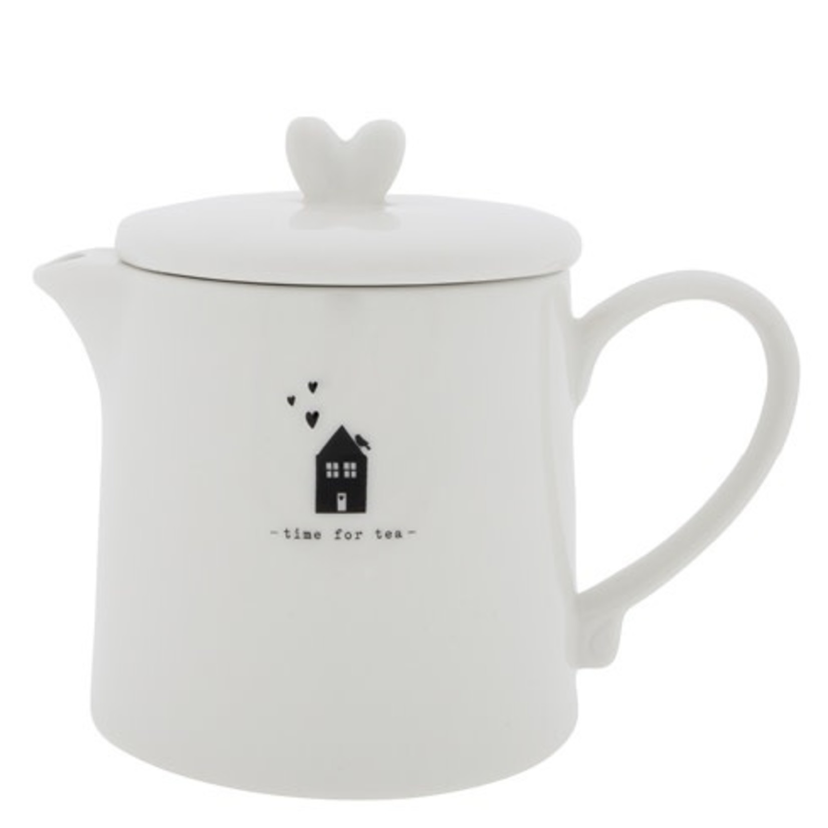 Bastion Collections Teapot Time for Tea white/black