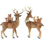 HOFF-INTERIEUR Rendier met dieren uit het bos (linker model)