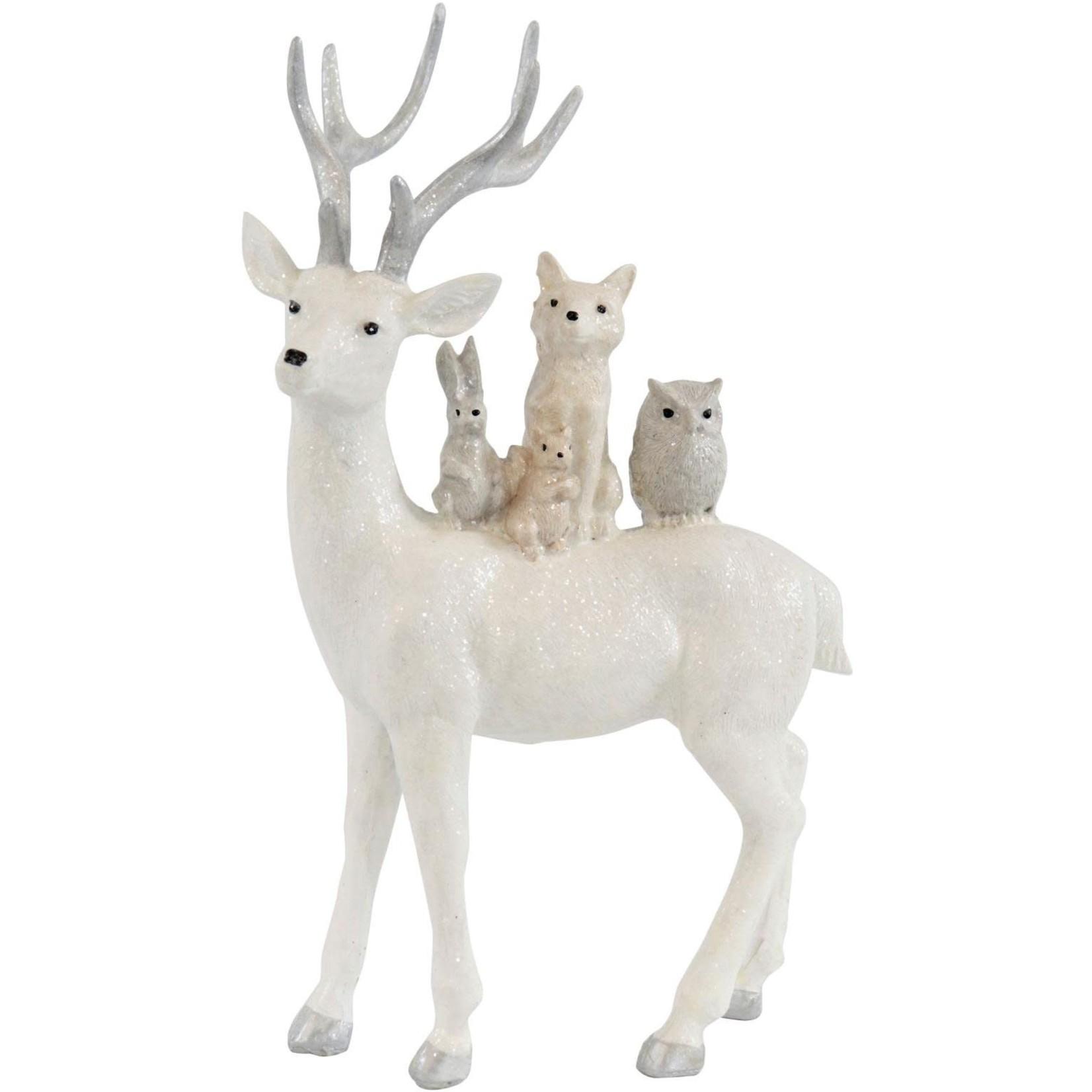 HOFF-INTERIEUR Rendier met dieren uit het bos