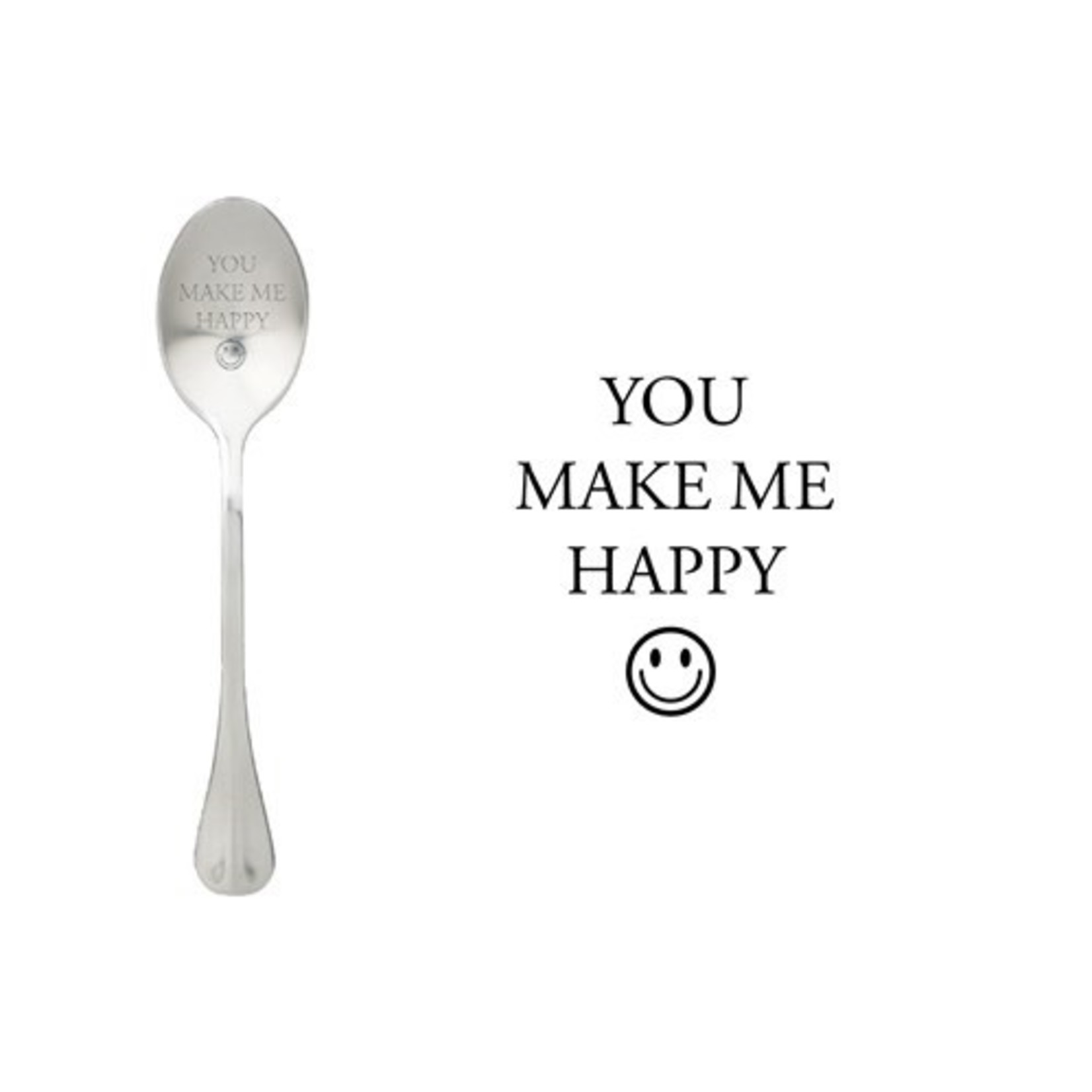 One message spoon Lepel You make me happy