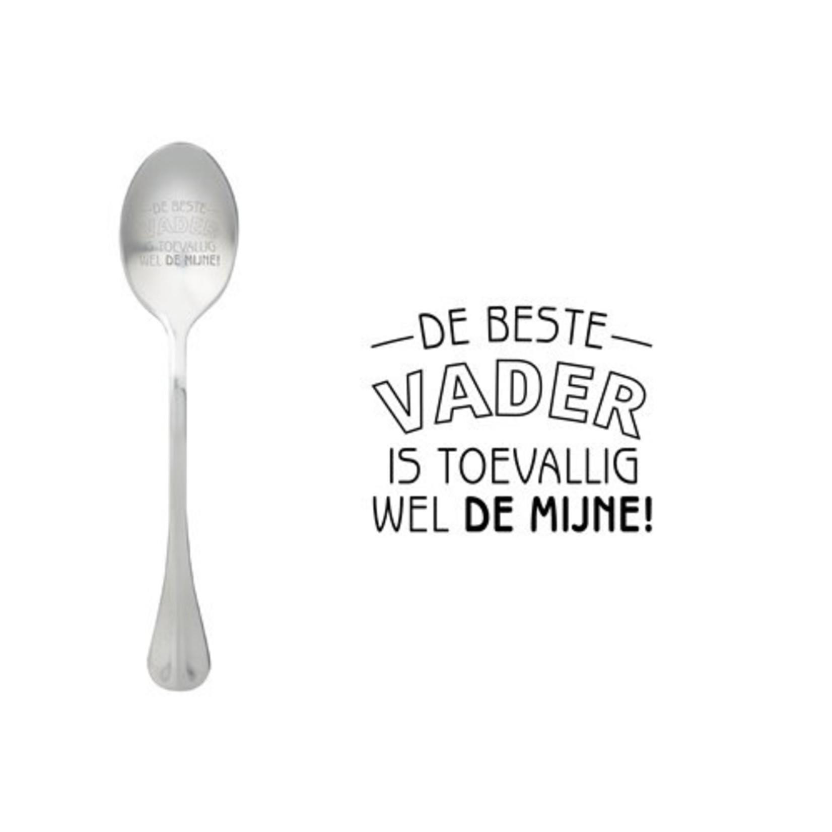 One message spoon Lepel De beste vader is toevallig wel de mijne