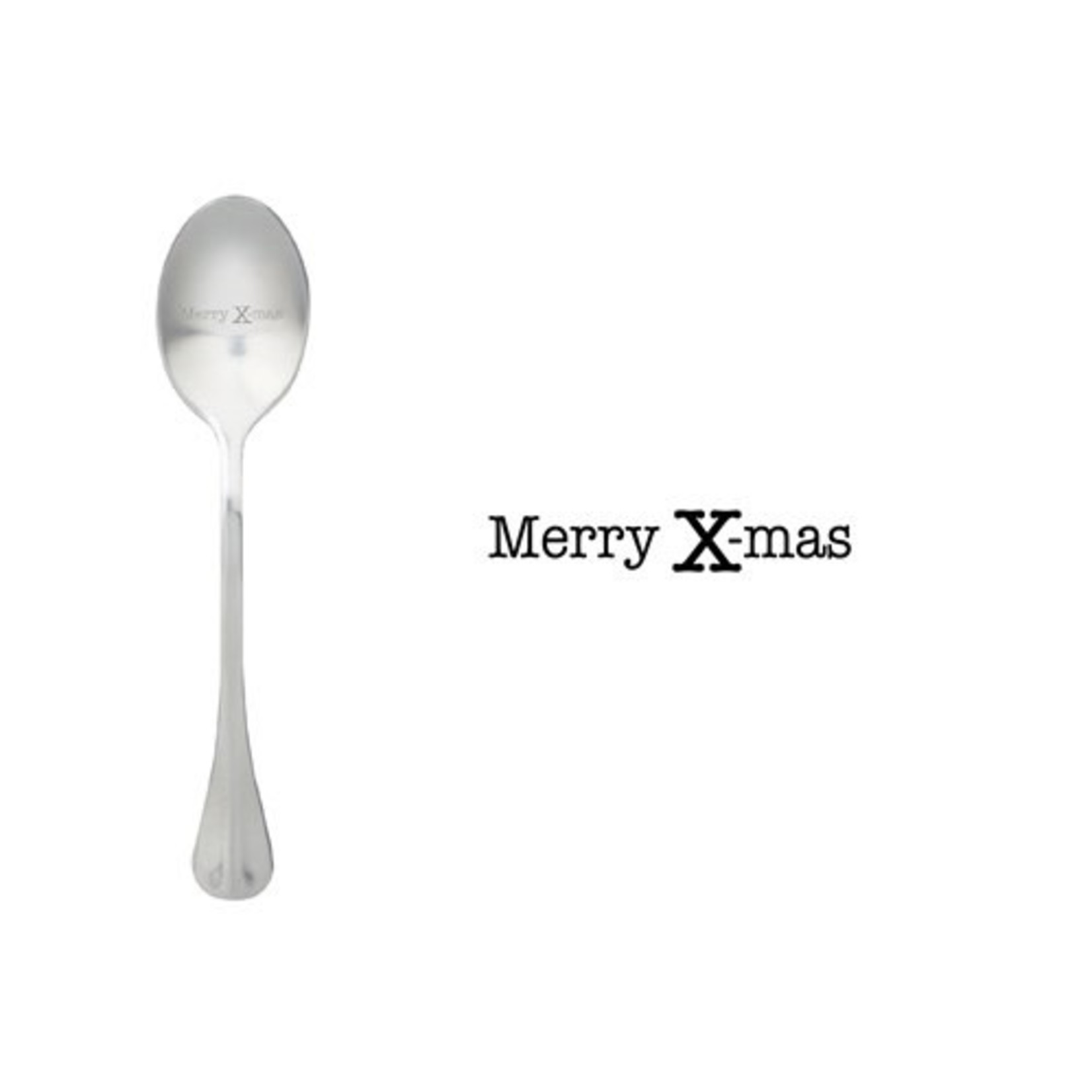 One message spoon Lepel Merry Xmas