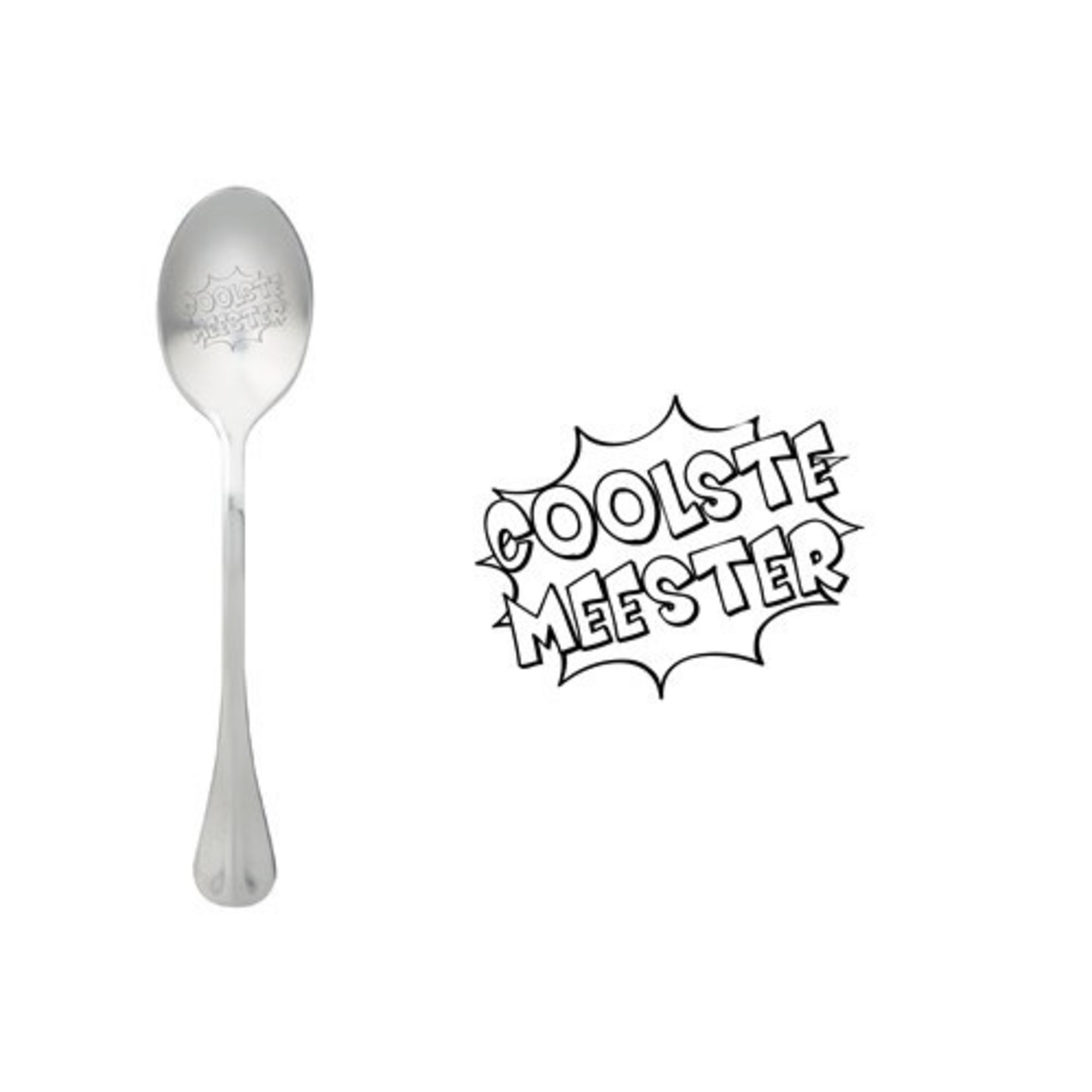One message spoon Lepel Coolste Meester