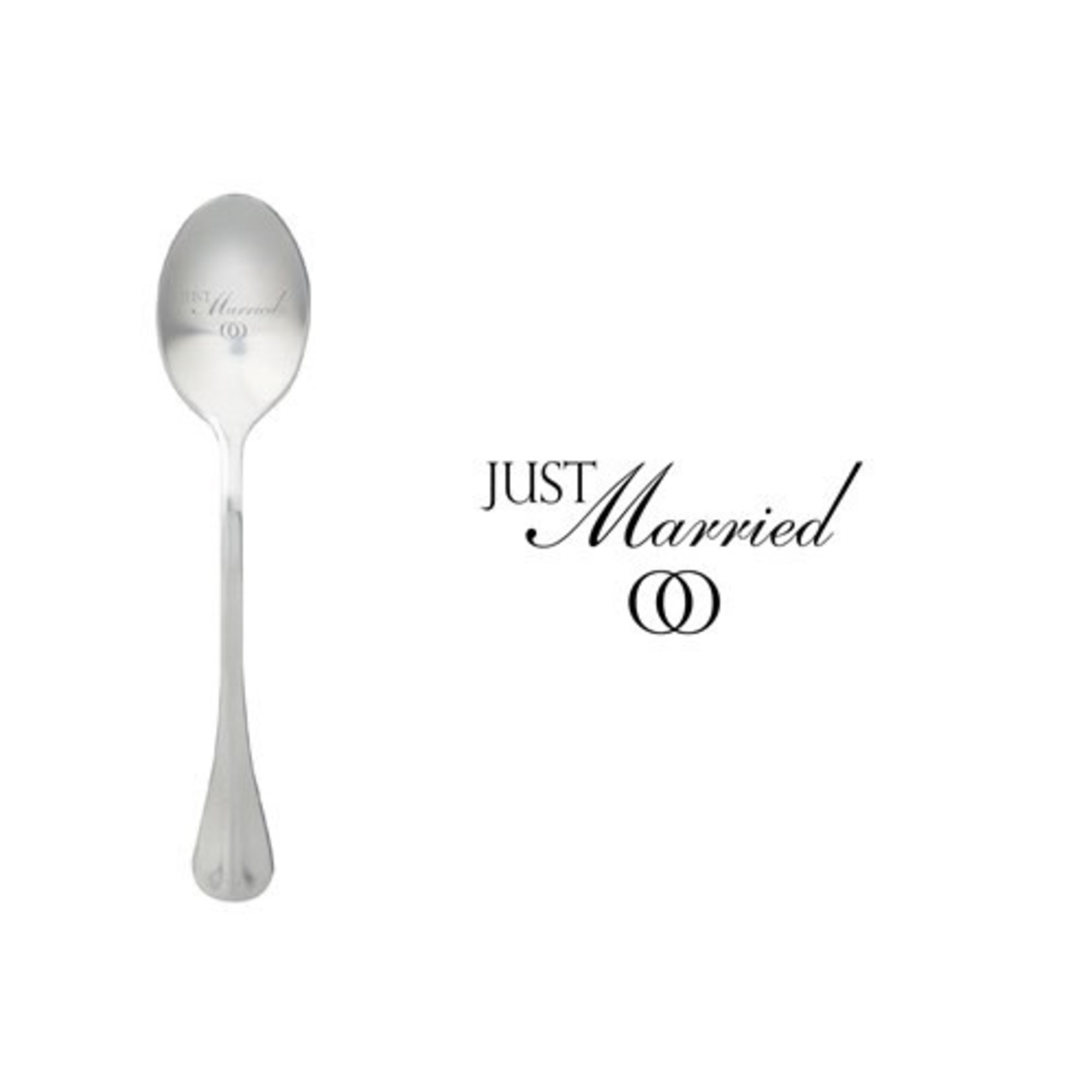 One message spoon Lepel Just Married