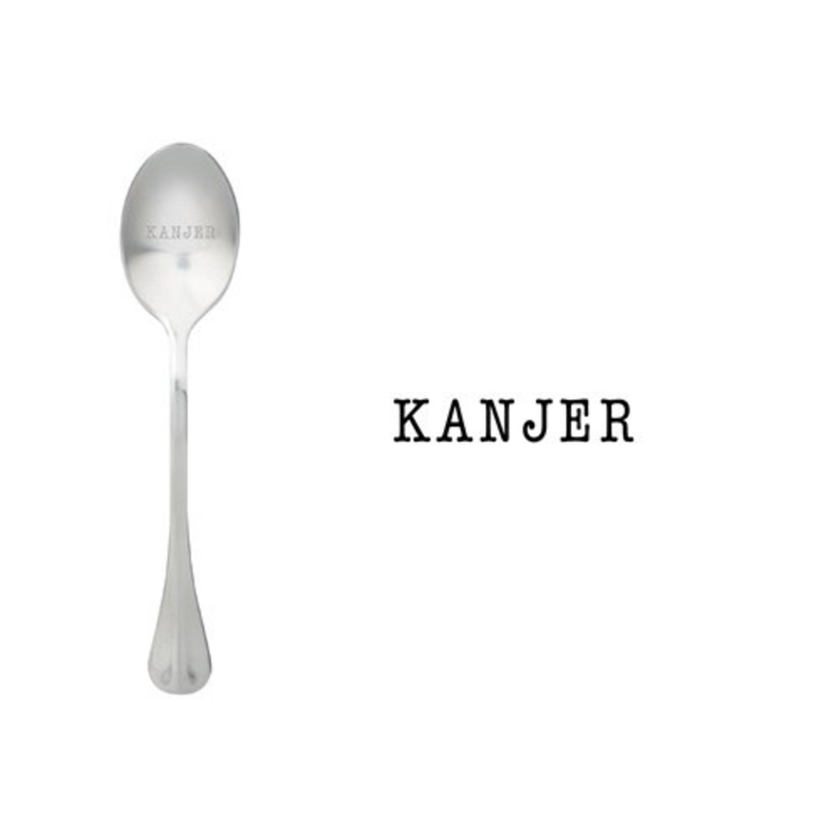 One message spoon Lepel Kanjer