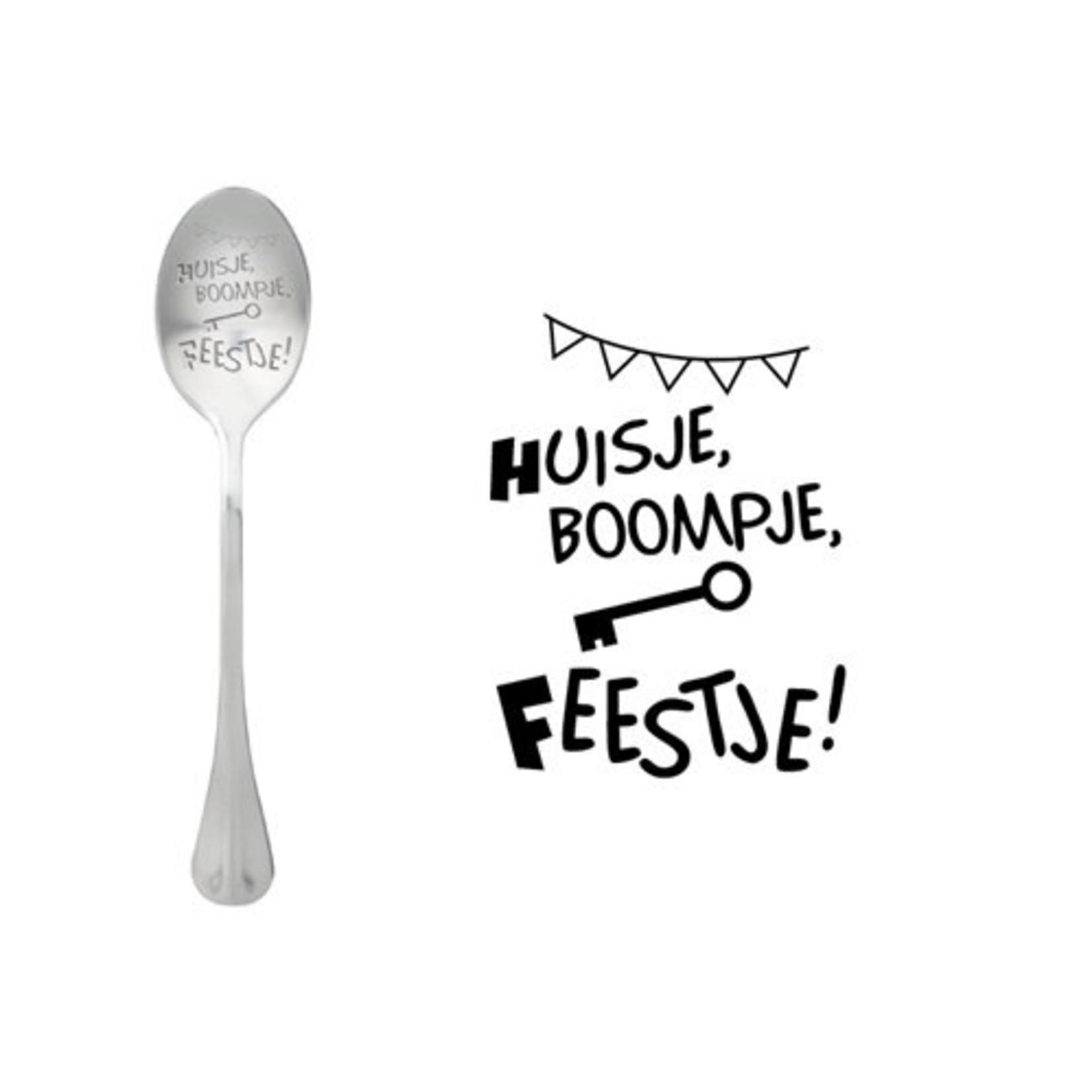 One message spoon Lepel Huisje, Boompje, Feestje
