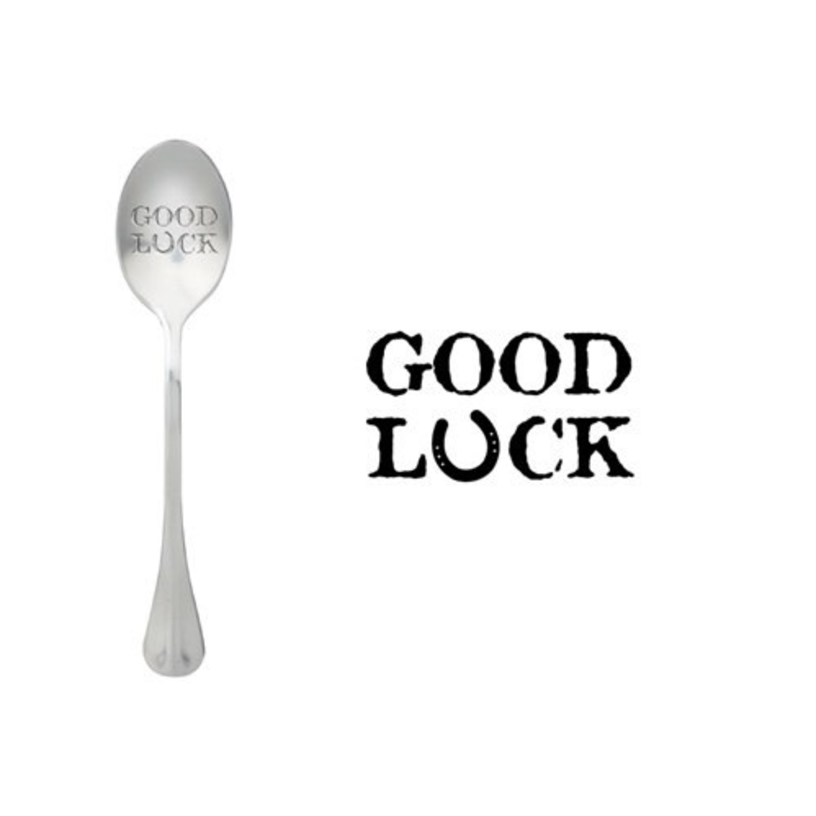 One message spoon Lepel Good Luck