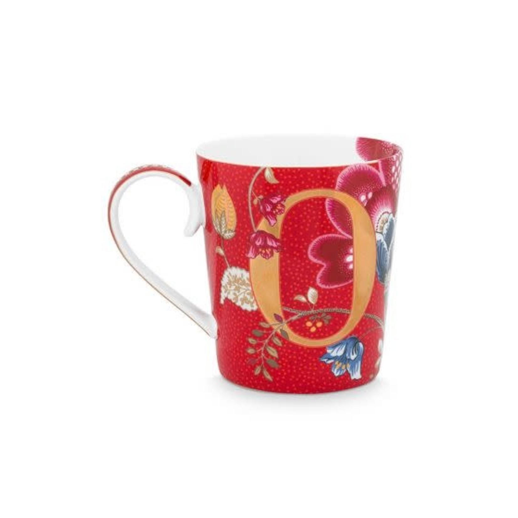 PIP Studio Alphabet Mug Blushing Birds Red O 350ml