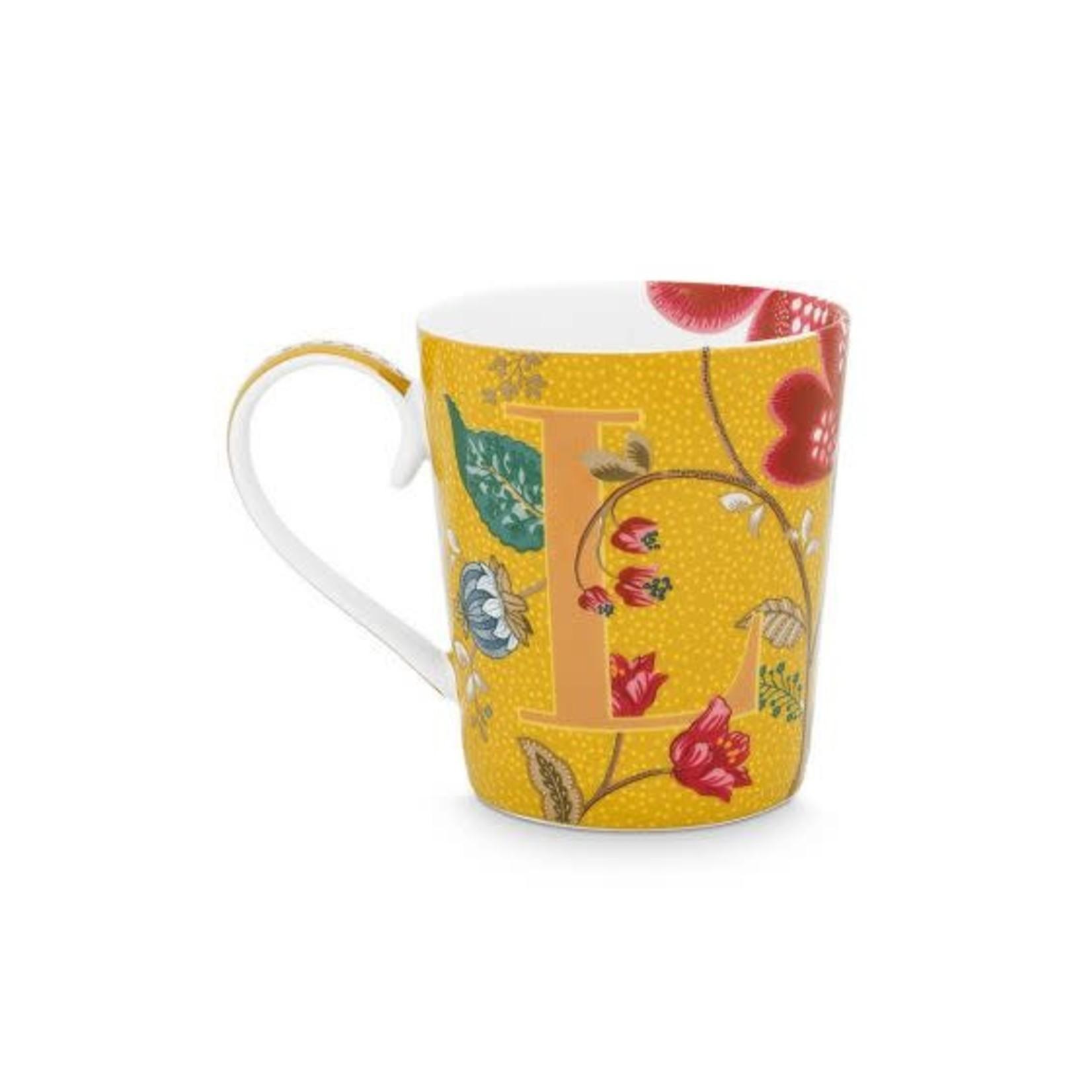 PIP Studio Alphabet Mug Blushing Birds Yellow L 350ml
