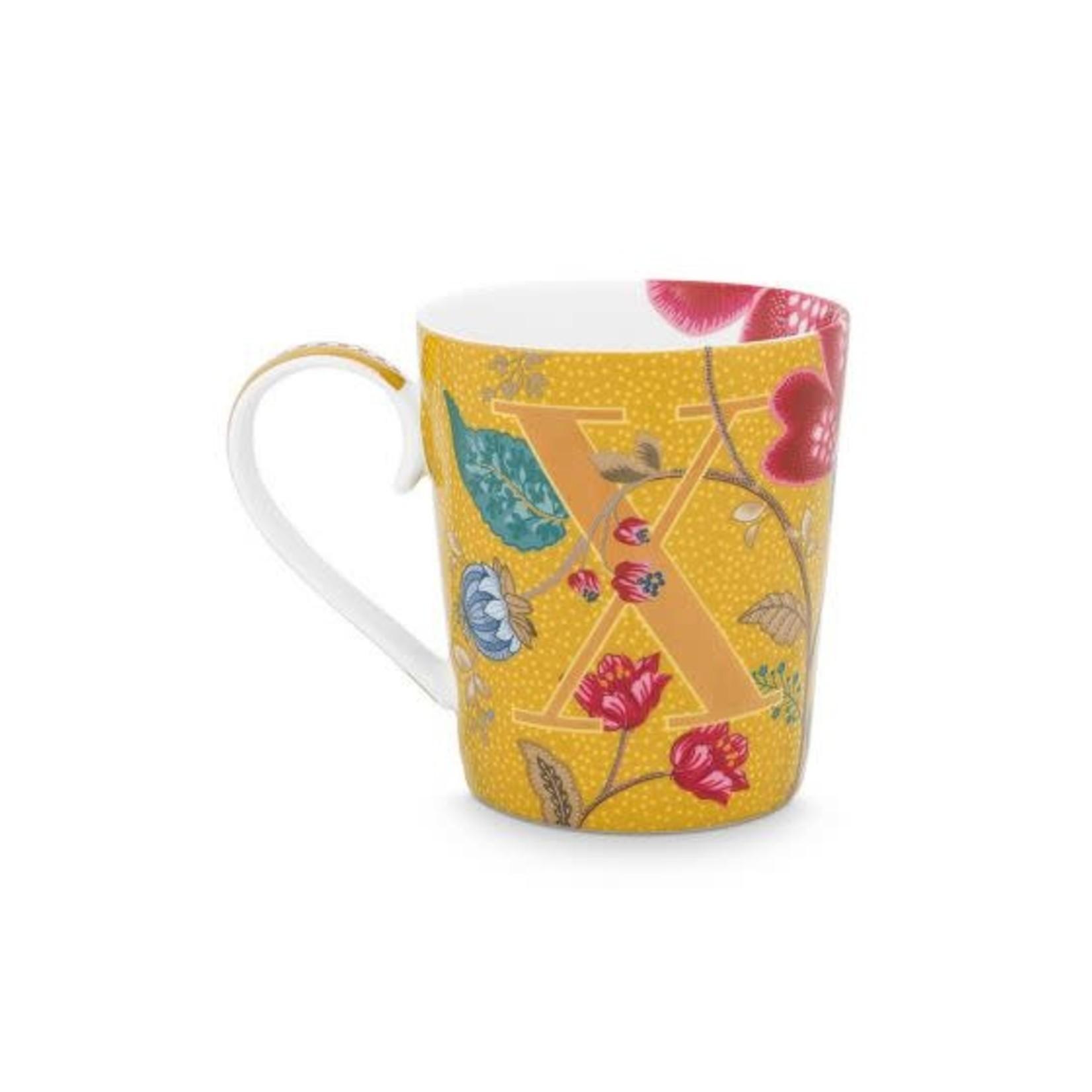 PIP Studio Alphabet Mug Blushing Birds Yellow X 350ml