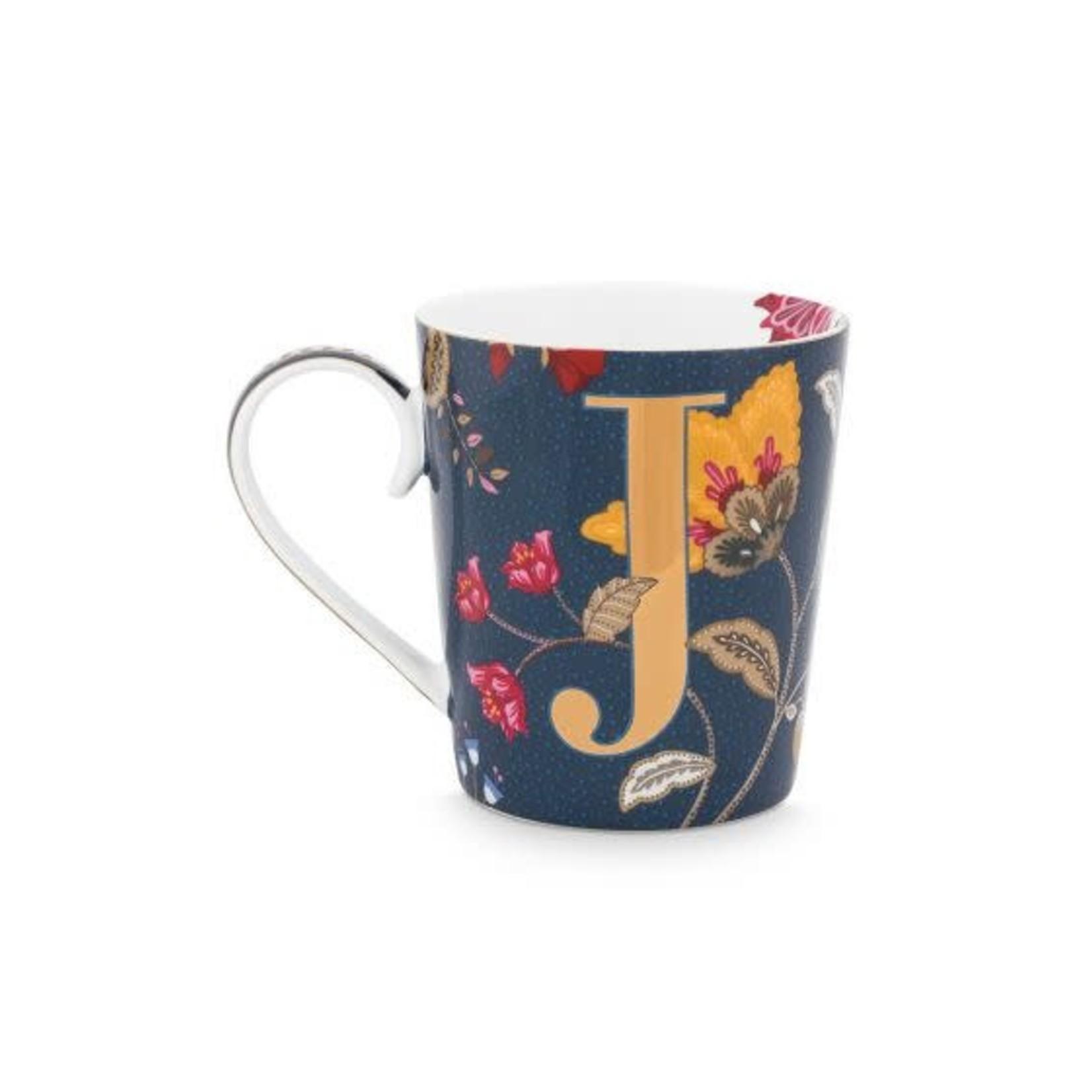 PIP Studio Alphabet Mug Floral Fantasy Blue J 350ml