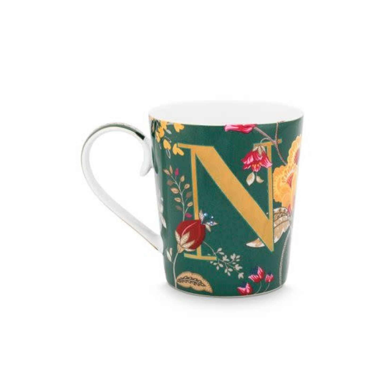 PIP Studio Alphabet Mug Floral Fantasy Green N 350ml