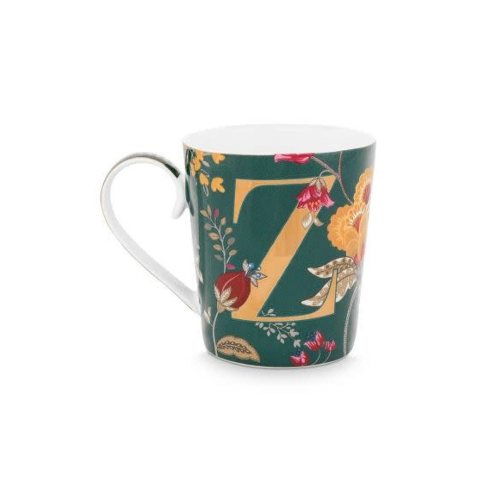PIP Studio Alphabet Mug Floral Fantasy Green Z 350ml